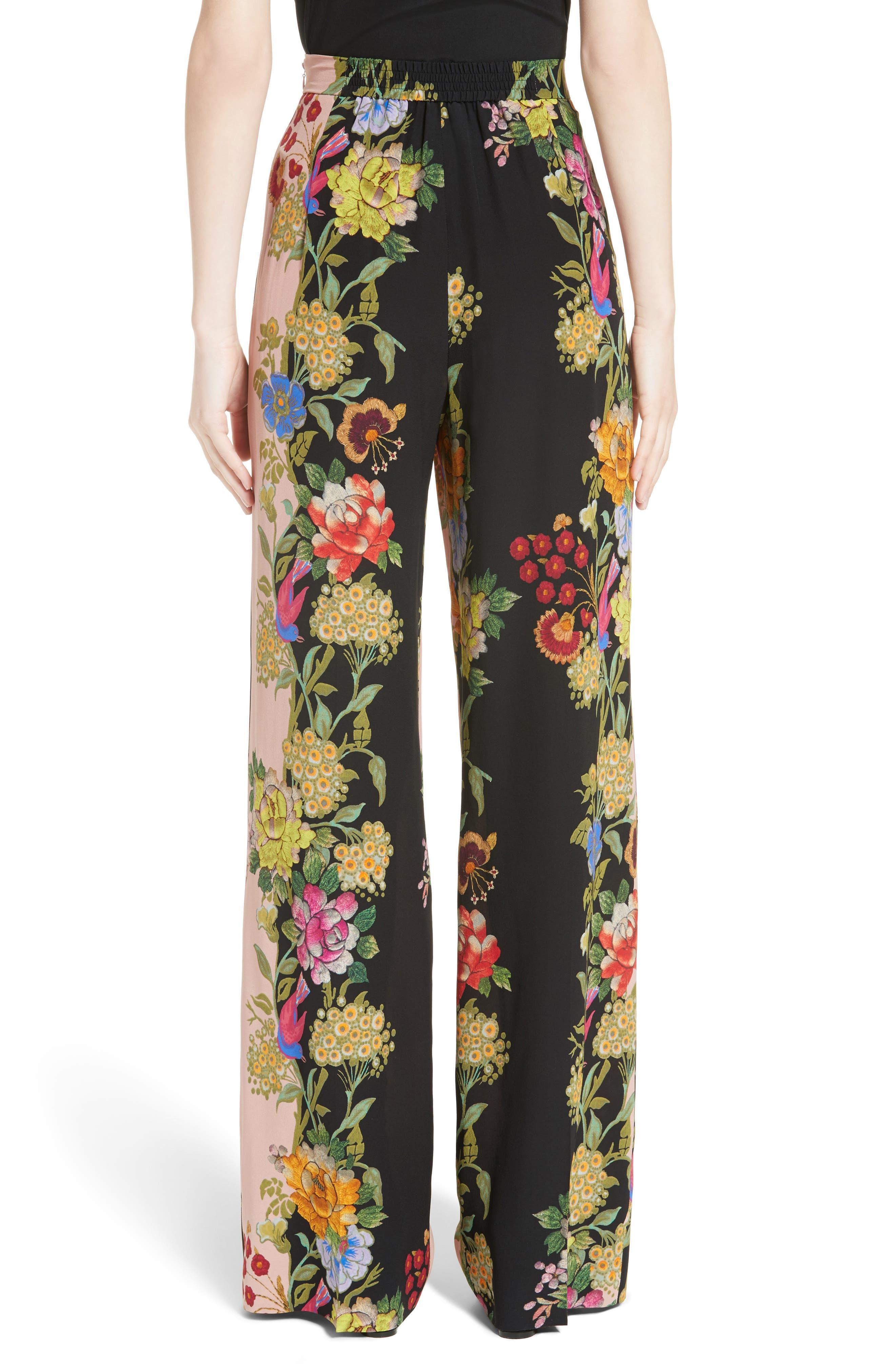 Alternate Image 2  - Etro Largo Floral Print Silk Pants