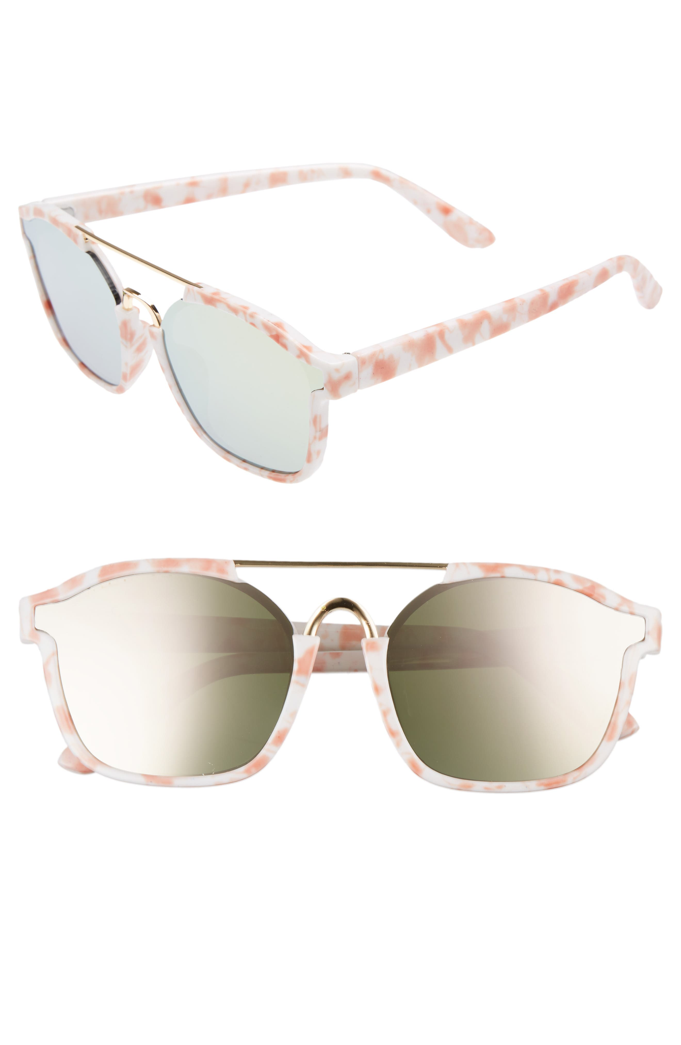 Leith Eve Bank 57mm Mirrored Sunglasses