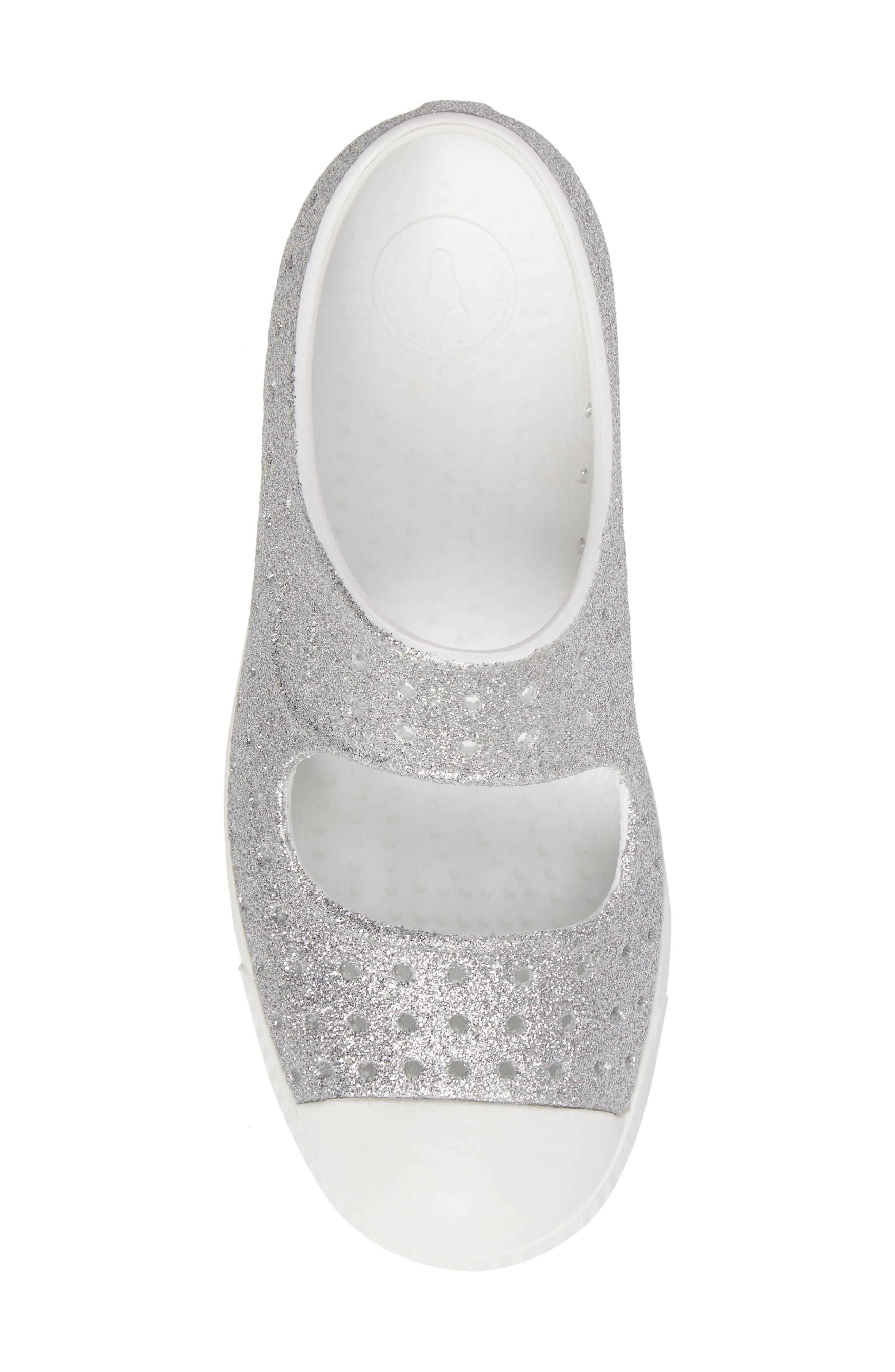 Alternate Image 5  - Native Shoes Juniper Bling Perforated Mary Jane (Baby, Walker, Toddler & Little Kid)