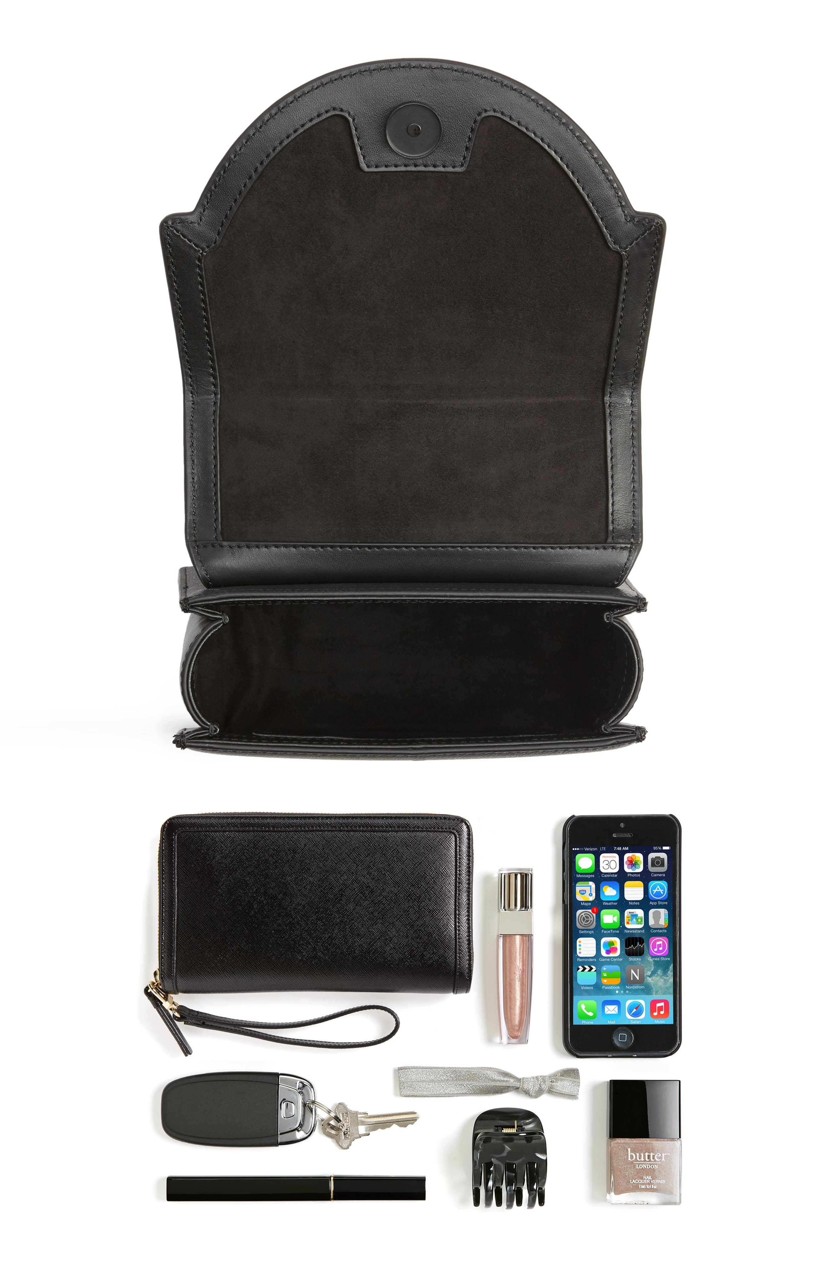 Alternate Image 7  - KENDALL + KYLIE Lips Leather Top Handle Satchel