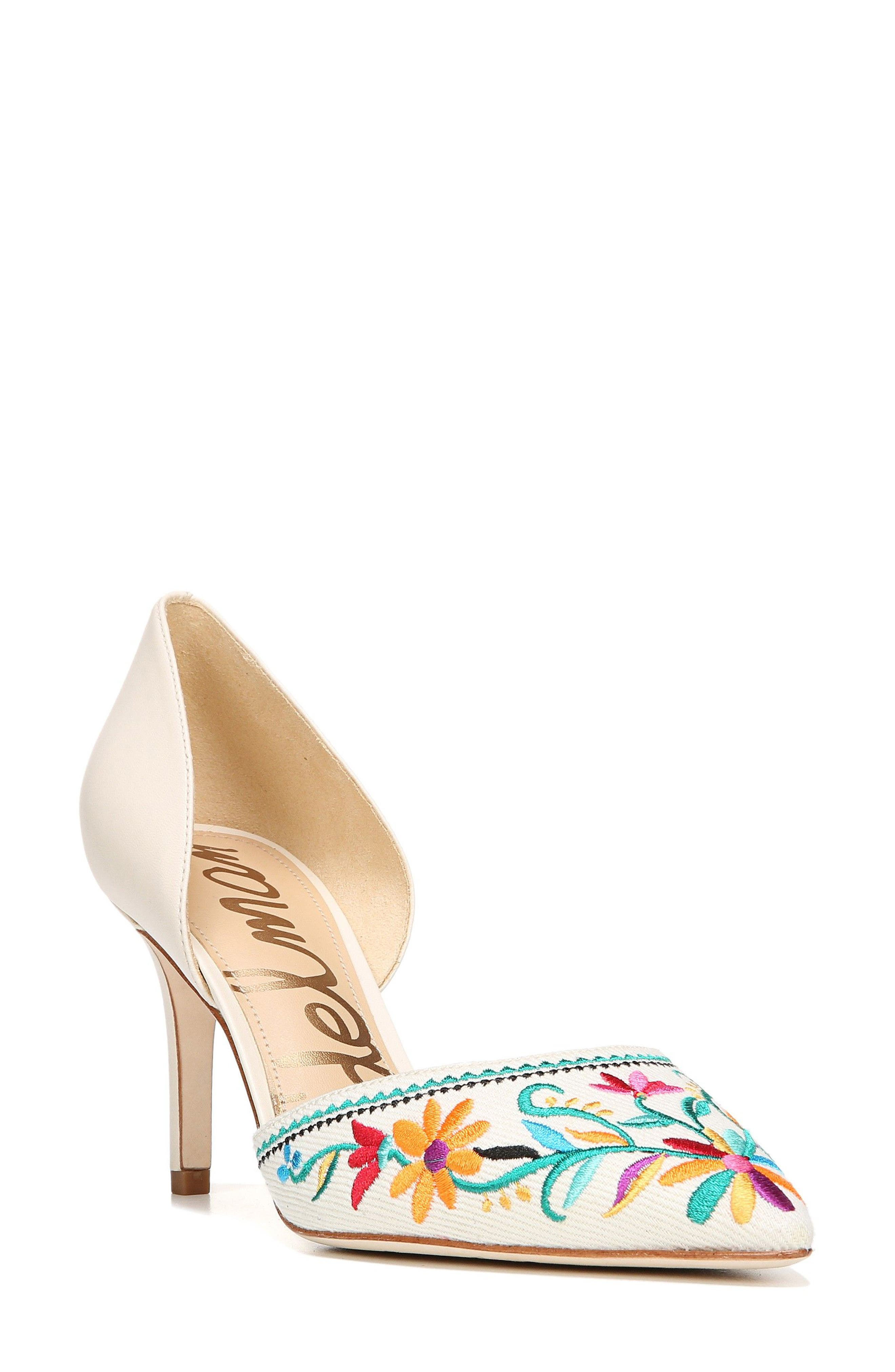 Sam Edelman Telsa 2 Embroidered d'Orsay Pump (Women)