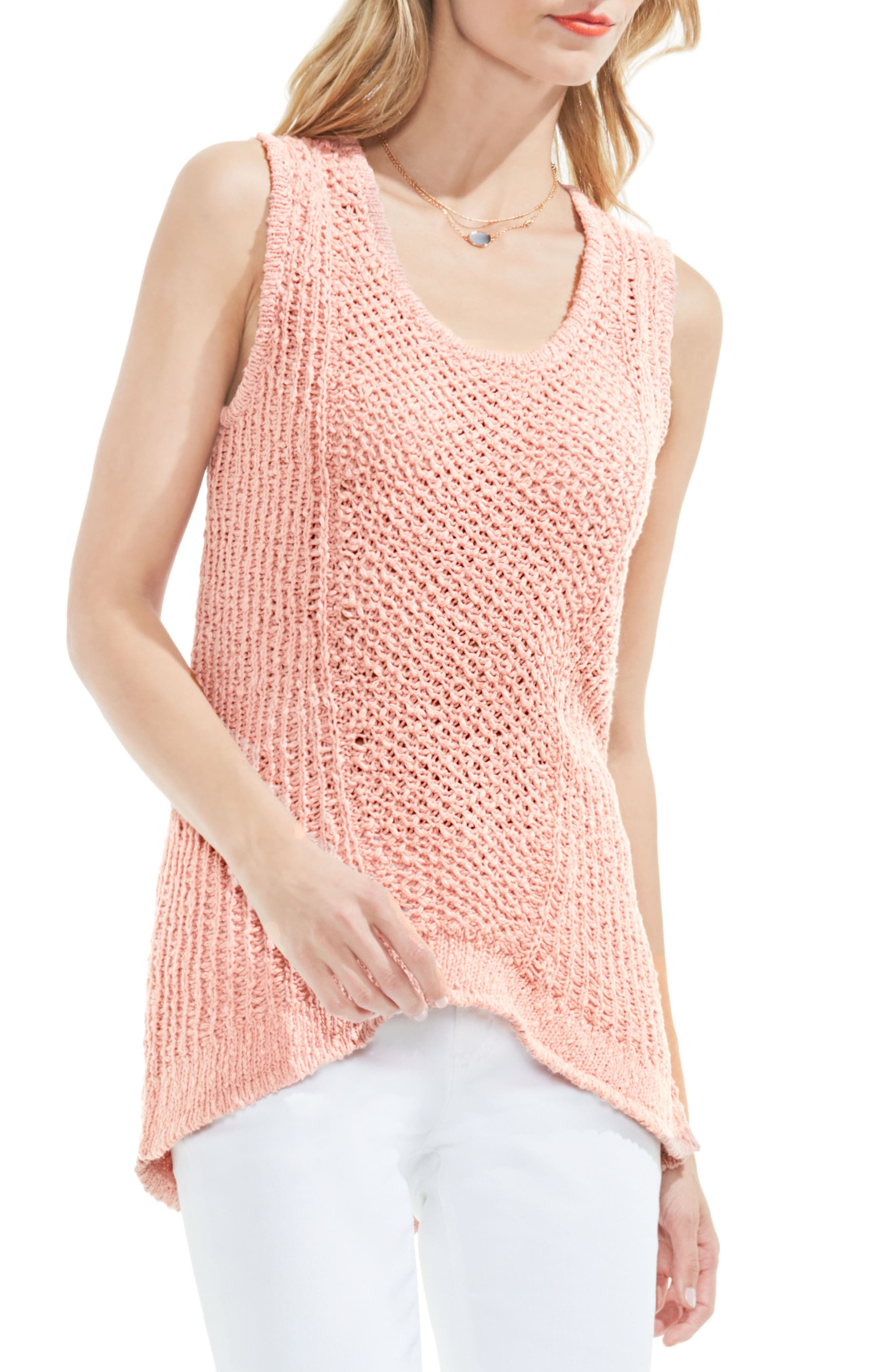 Two by Vince Camuto Textured Tank Sweater