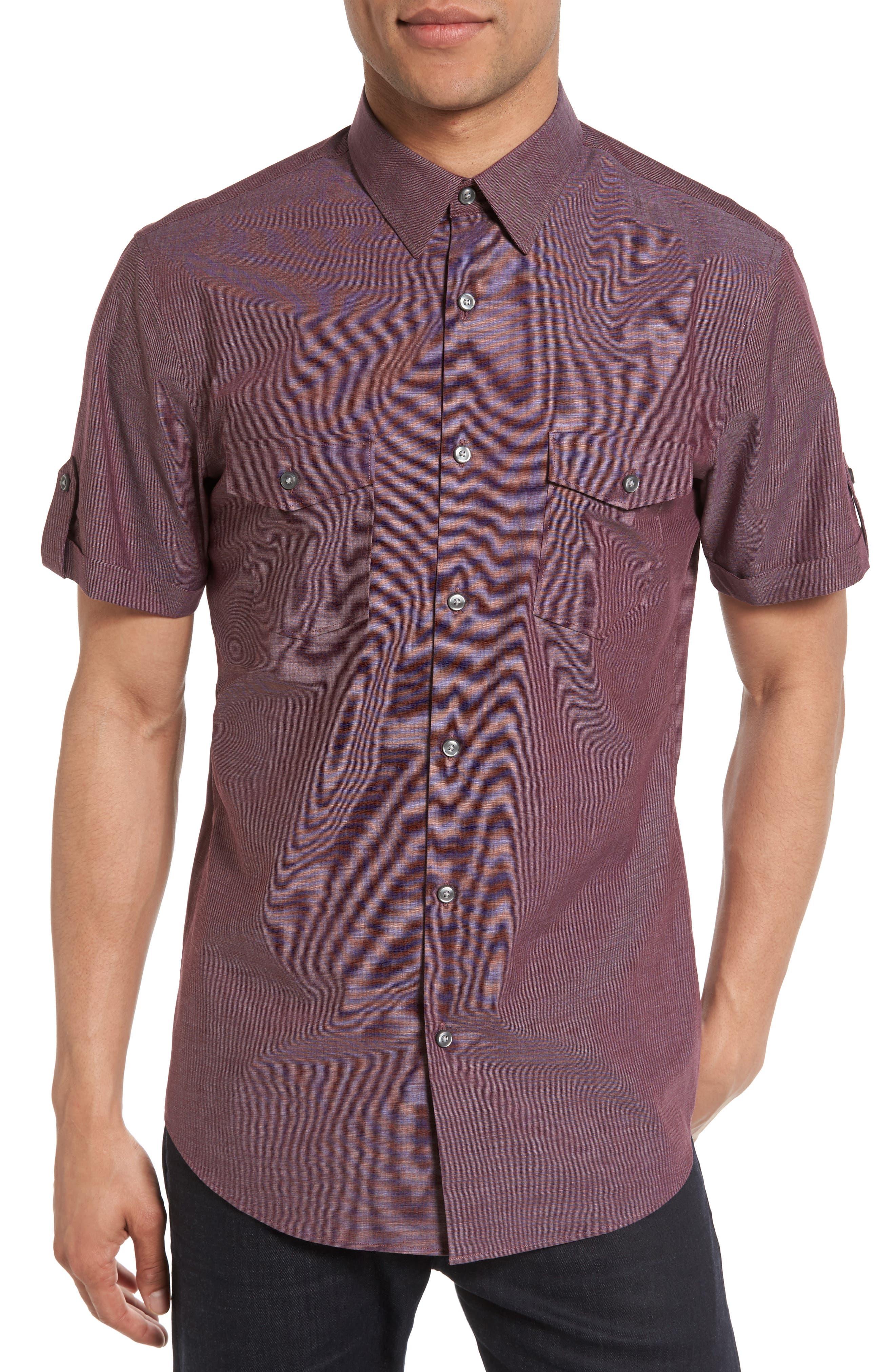 Calibrate Non-Iron Cotton Military Sport Shirt