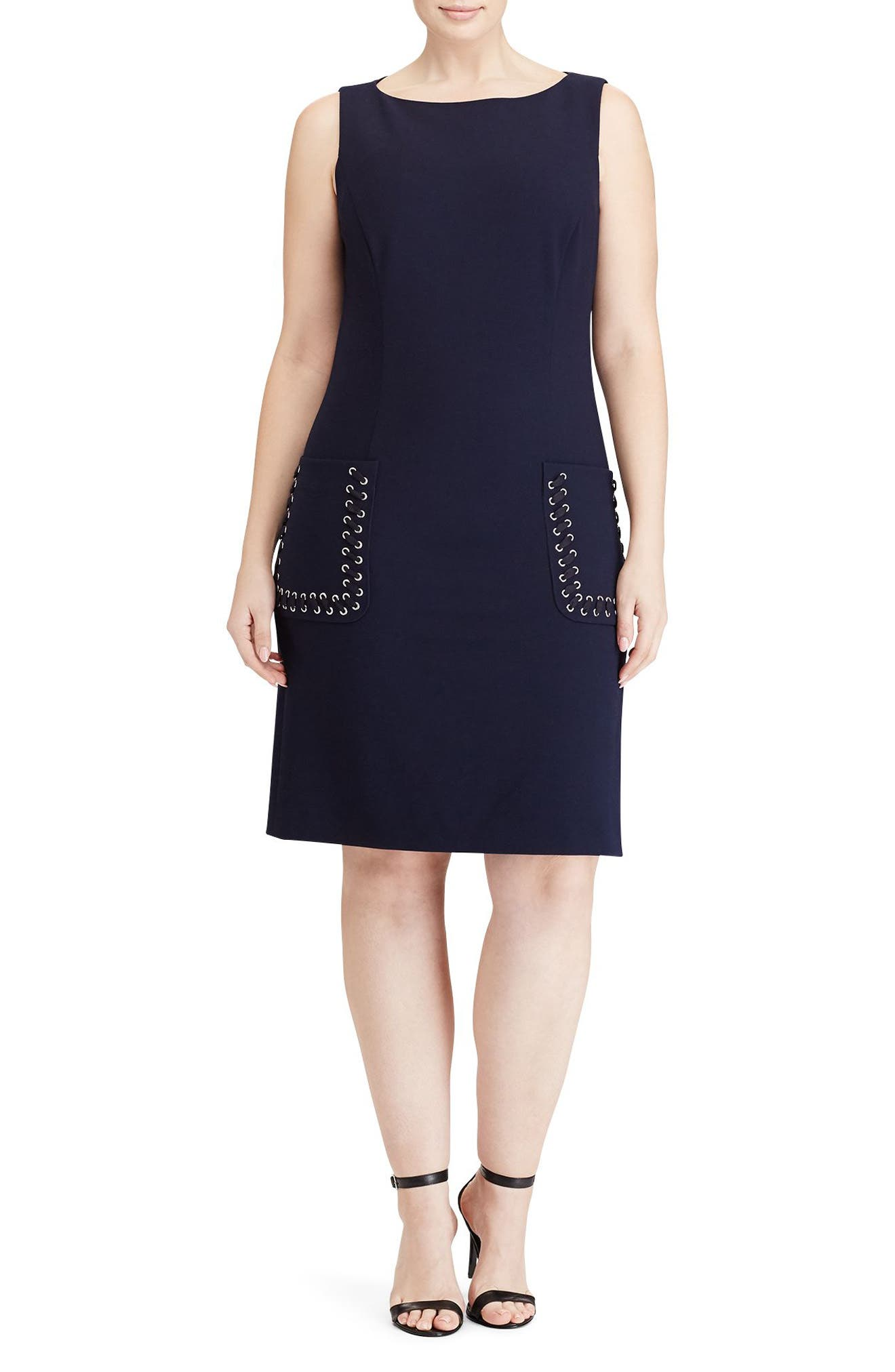 Lauren Ralph Lauren Nance A-Line Dress (Plus Size)