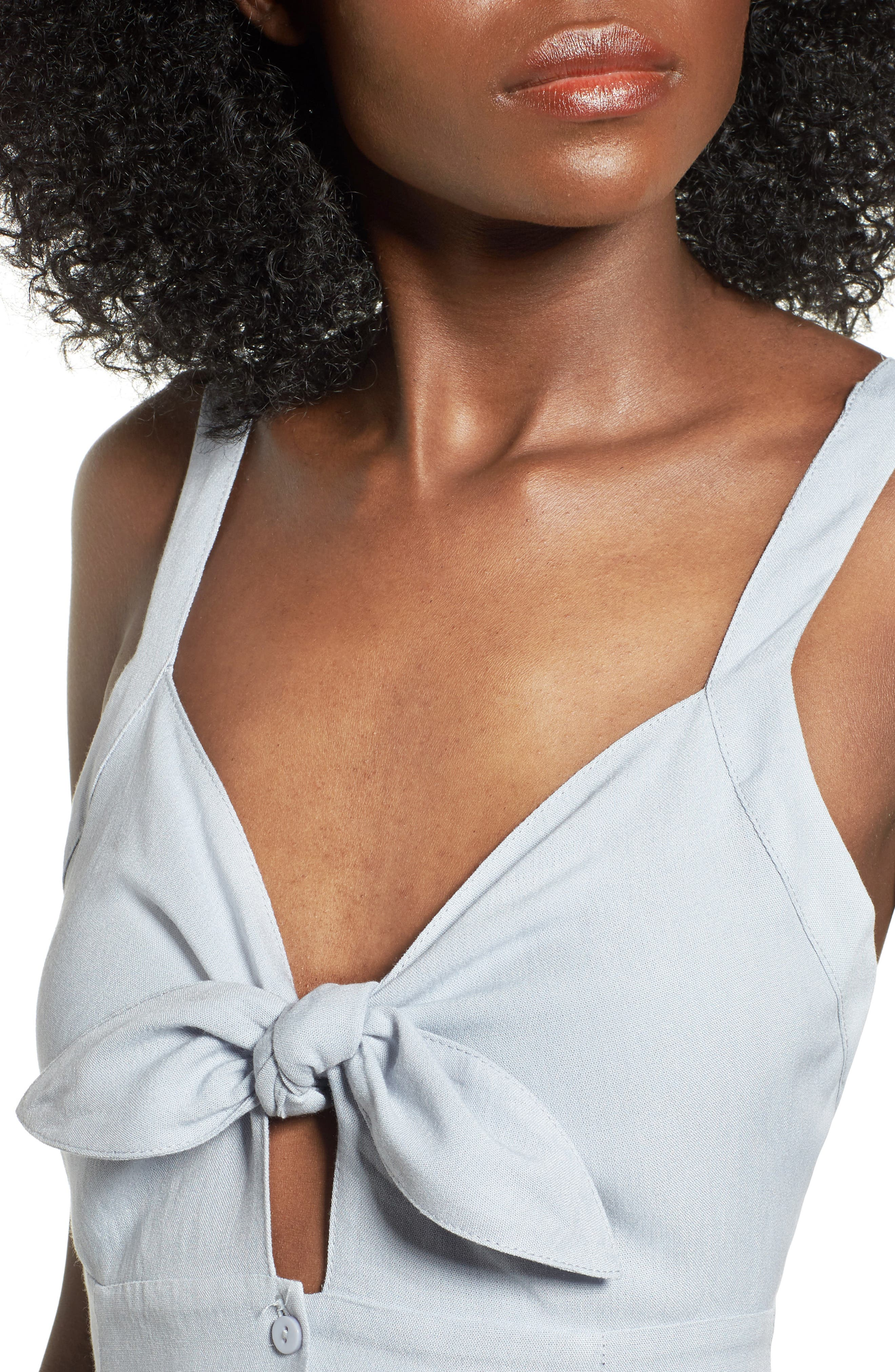Alternate Image 4  - ASTR the Label Tie Front Midi Dress