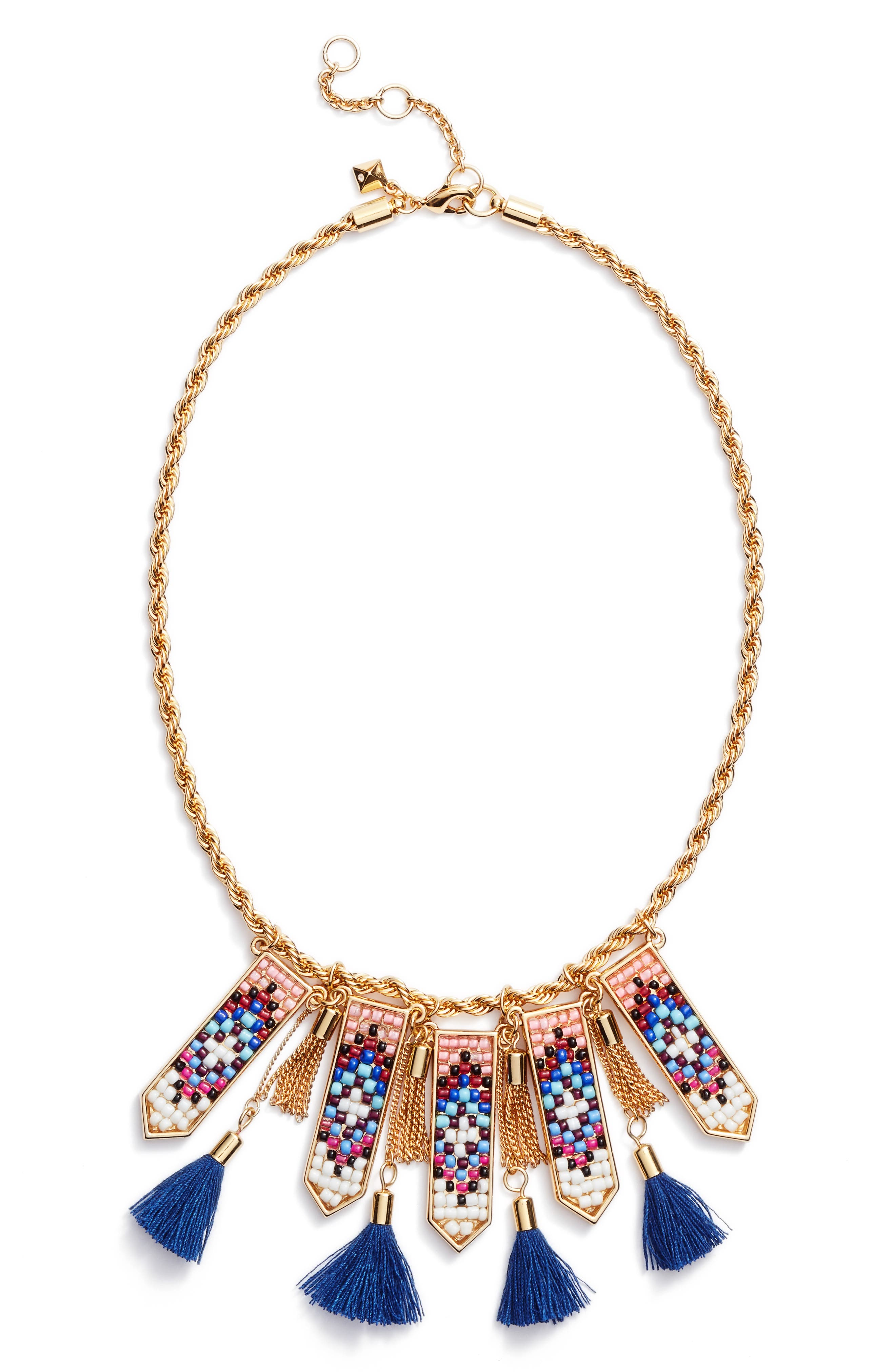 Rebecca Minkoff Catalina Seed Bead Statement Necklace