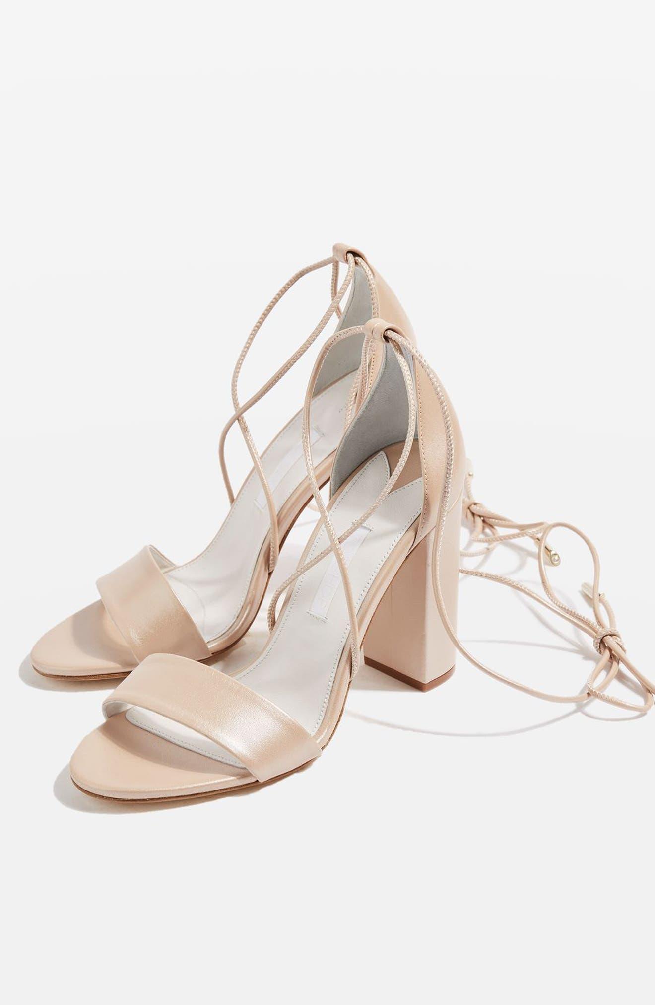 Alternate Image 2  - Topshop Bride Beatrix Lace-Up Sandals (Women)