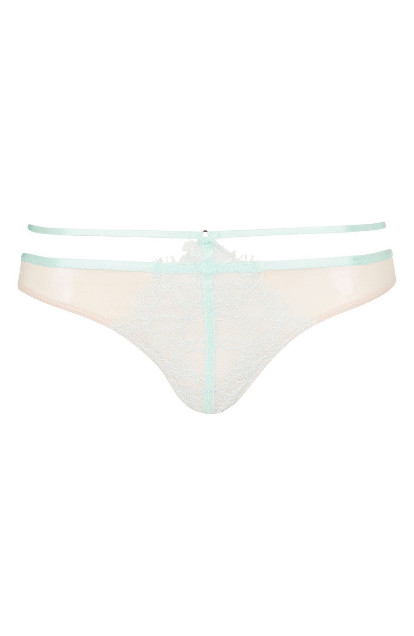 Topshop Strappy Lace Thong