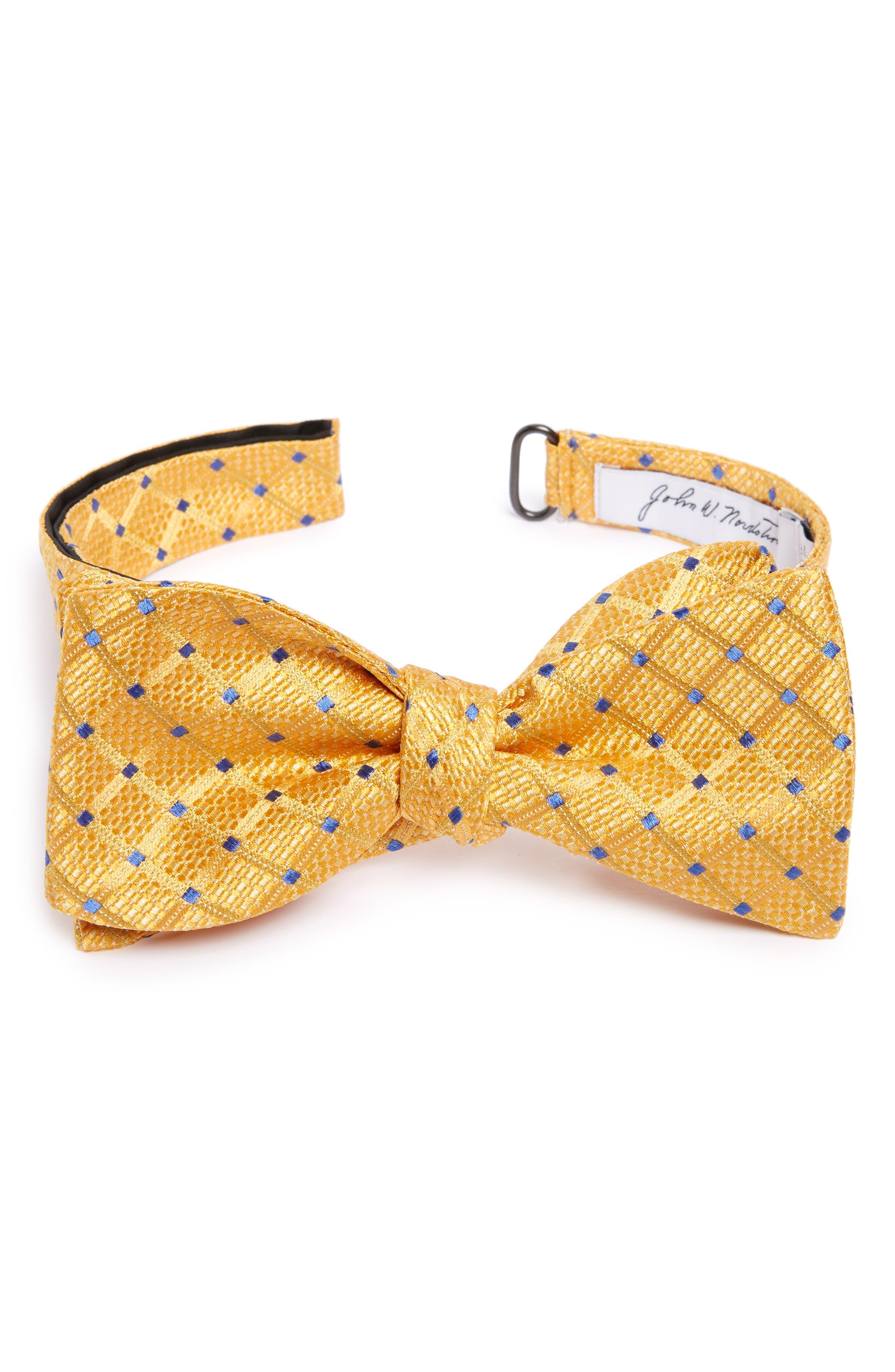 John W. Nordstrom® Grid Silk Bow Tie