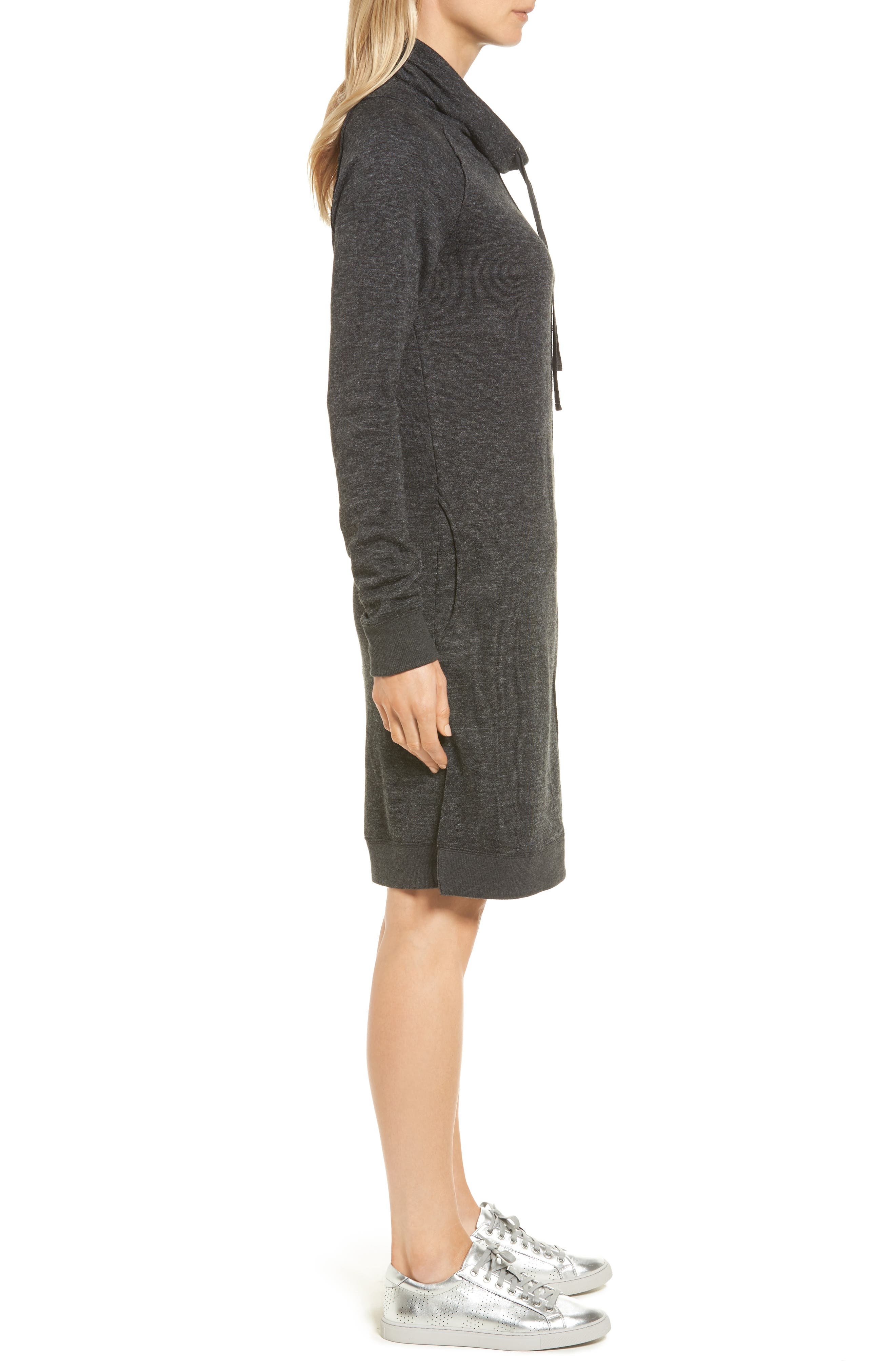 Alternate Image 3  - Caslon® Sweatshirt Dress (Regular & Petite)