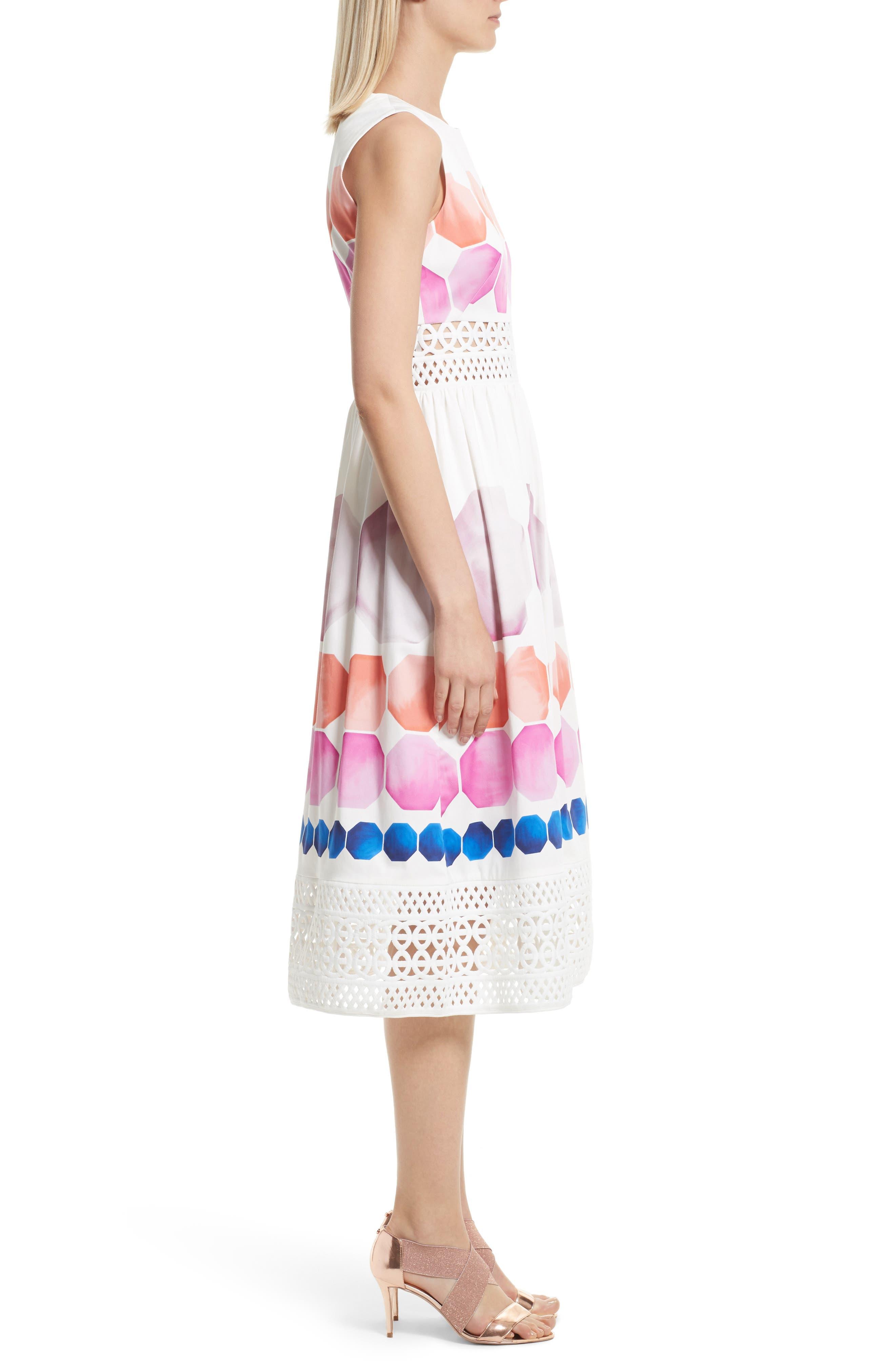 Alternate Image 4  - Ted Baker London Serinah Stretch Cotton Midi Dress