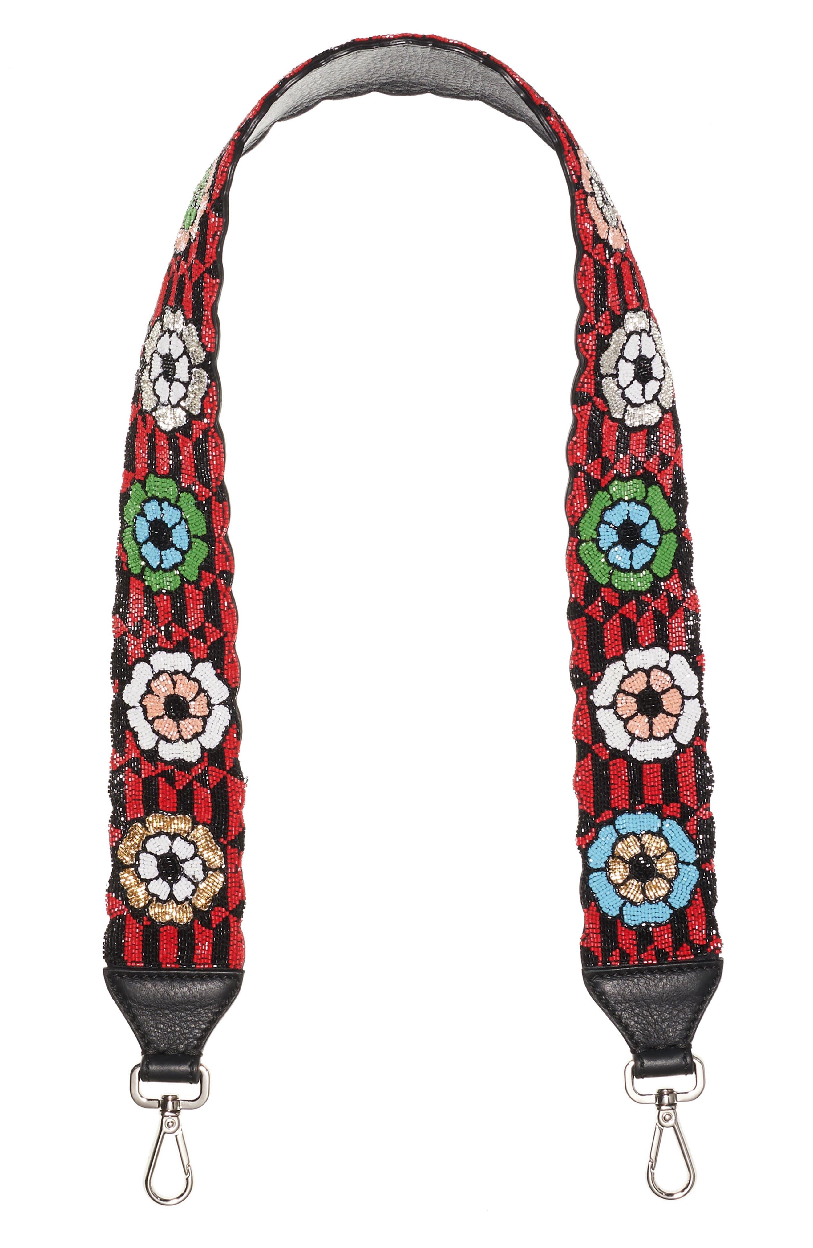 Fendi Beaded Flower Guitar Bag Strap
