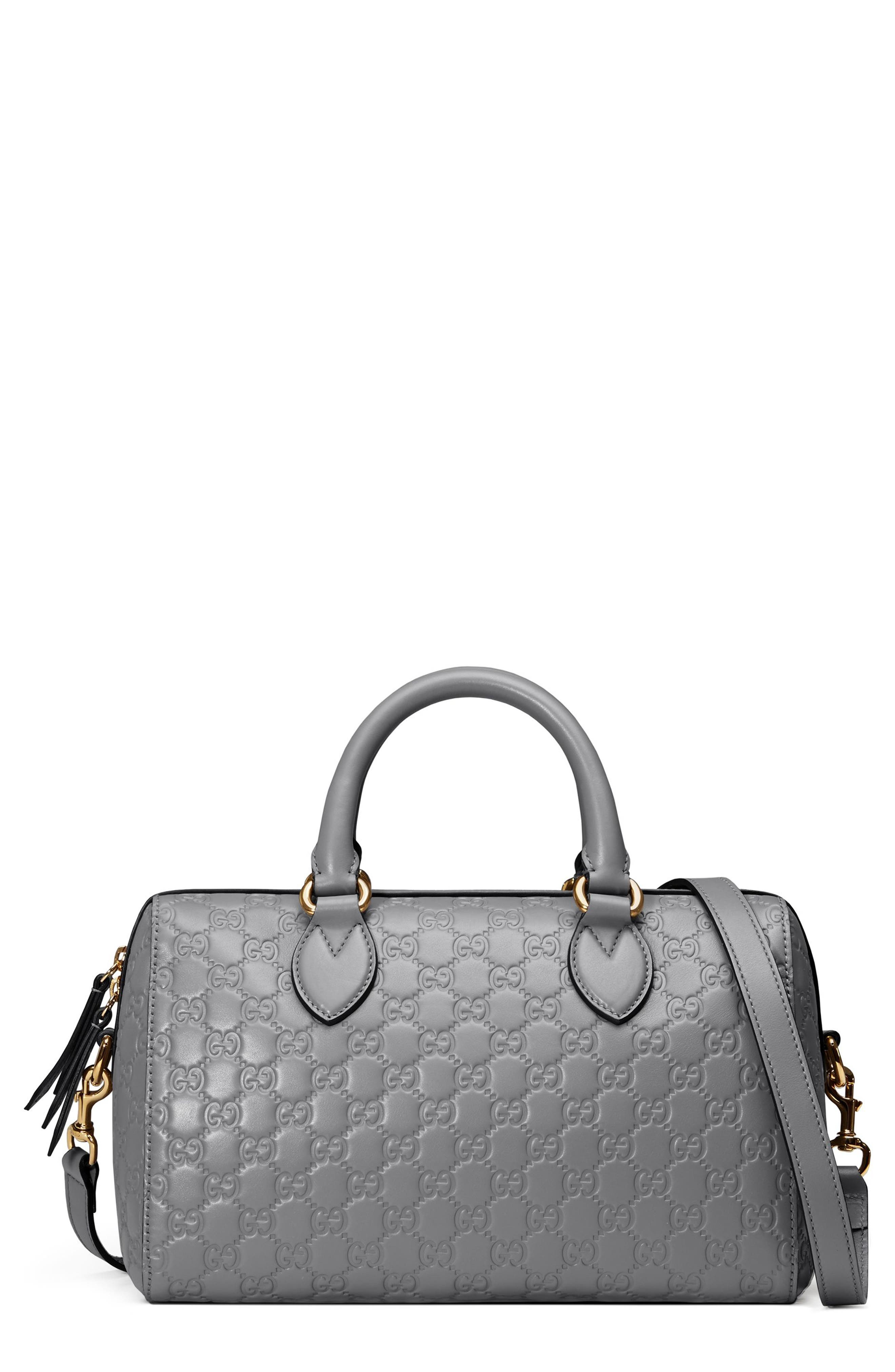 Gucci Medium Signature Top Handle Leather Satchel