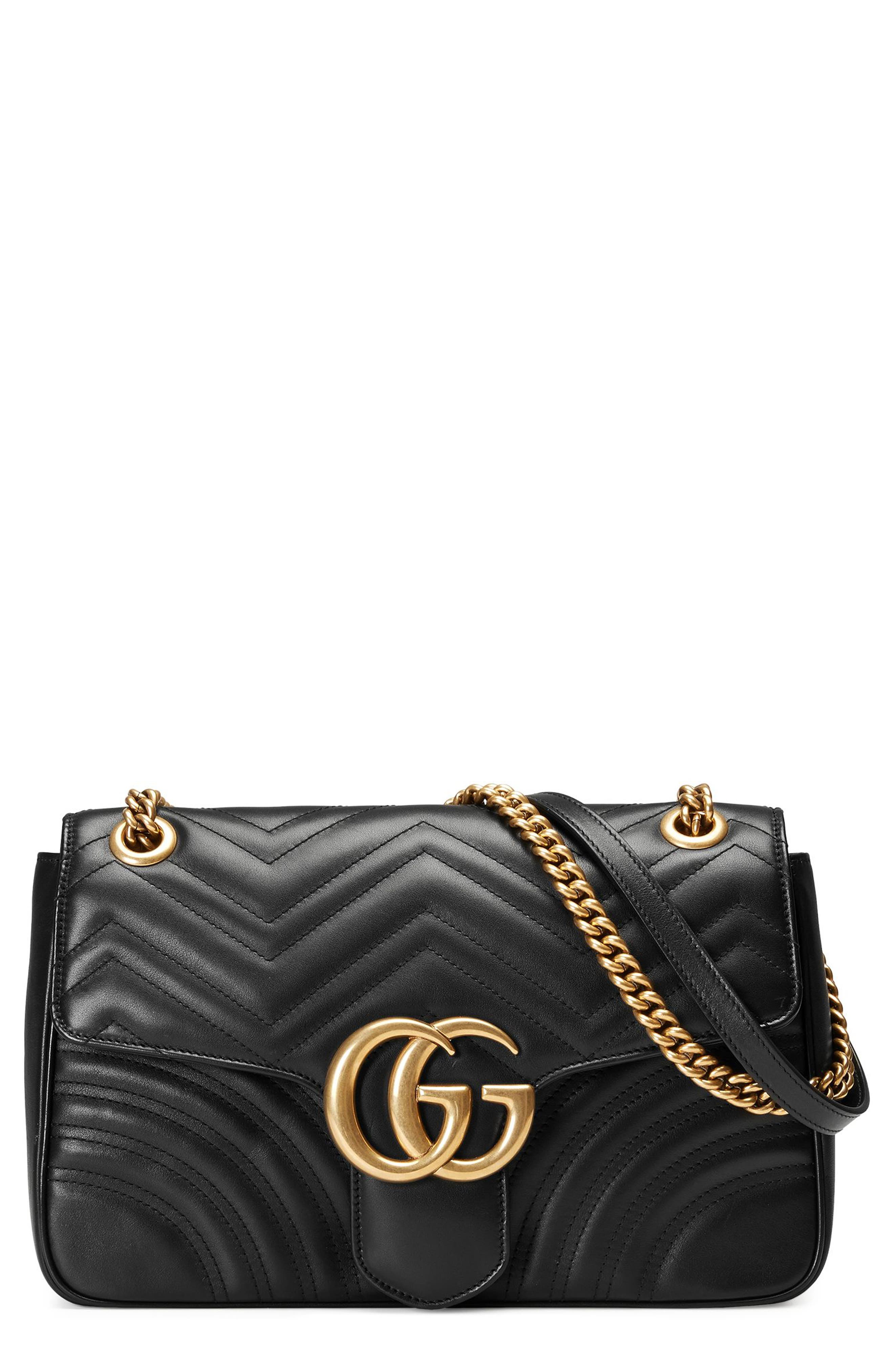 Gucci Medium GG Marmont 2.0 Tricolor Matelassé Leather Shoulder Bag