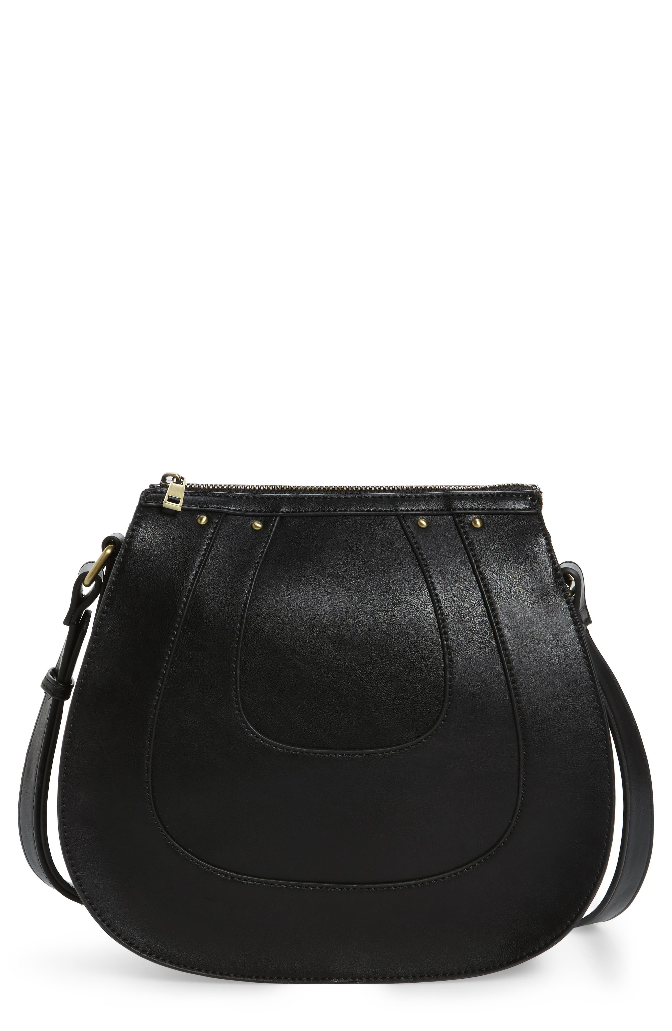 Sole Society Korah Faux Leather Saddle Bag
