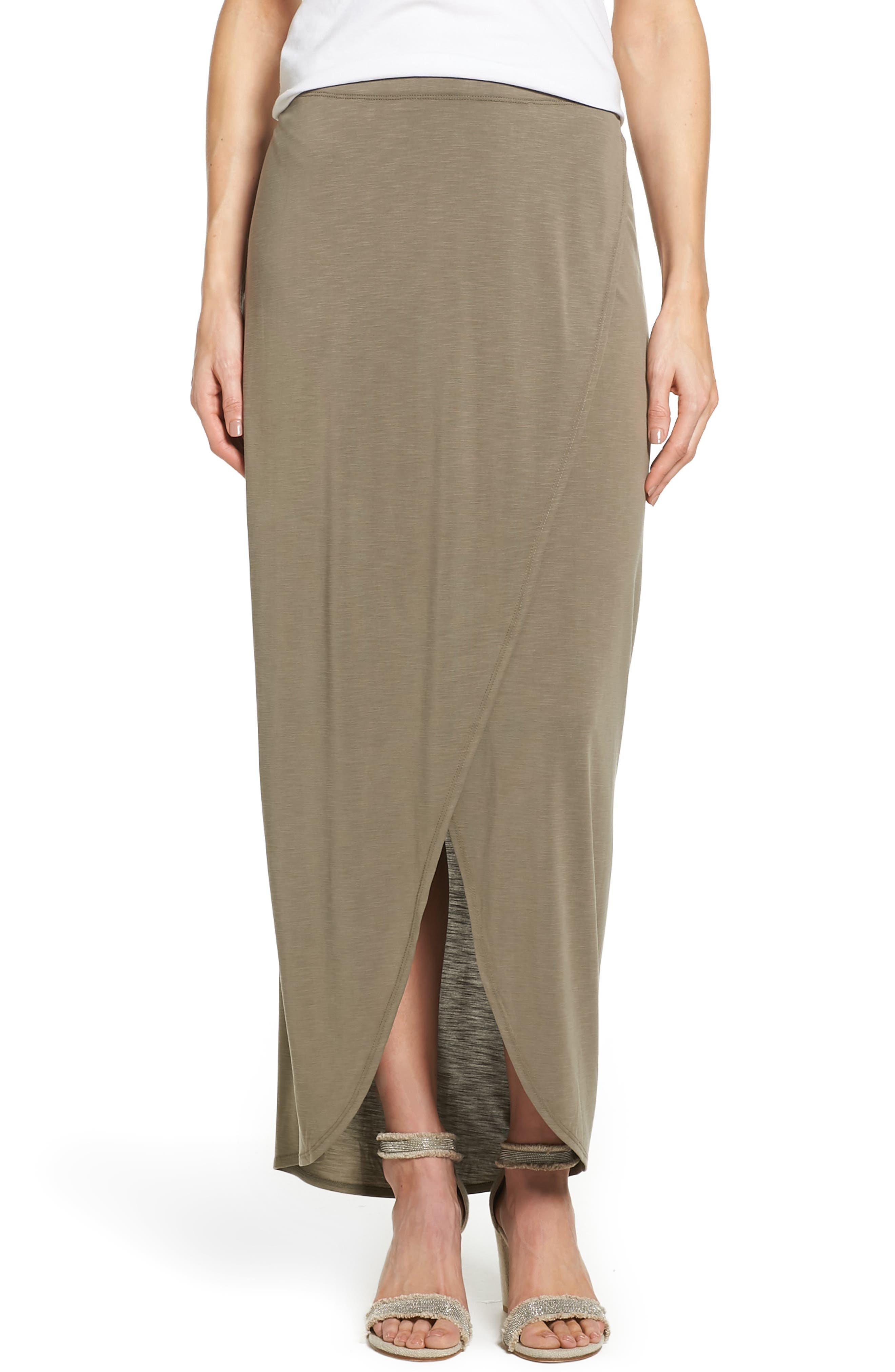 NIC+ZOE Boardwalk Knit Wrap Maxi Skirt (Regular & Petite)