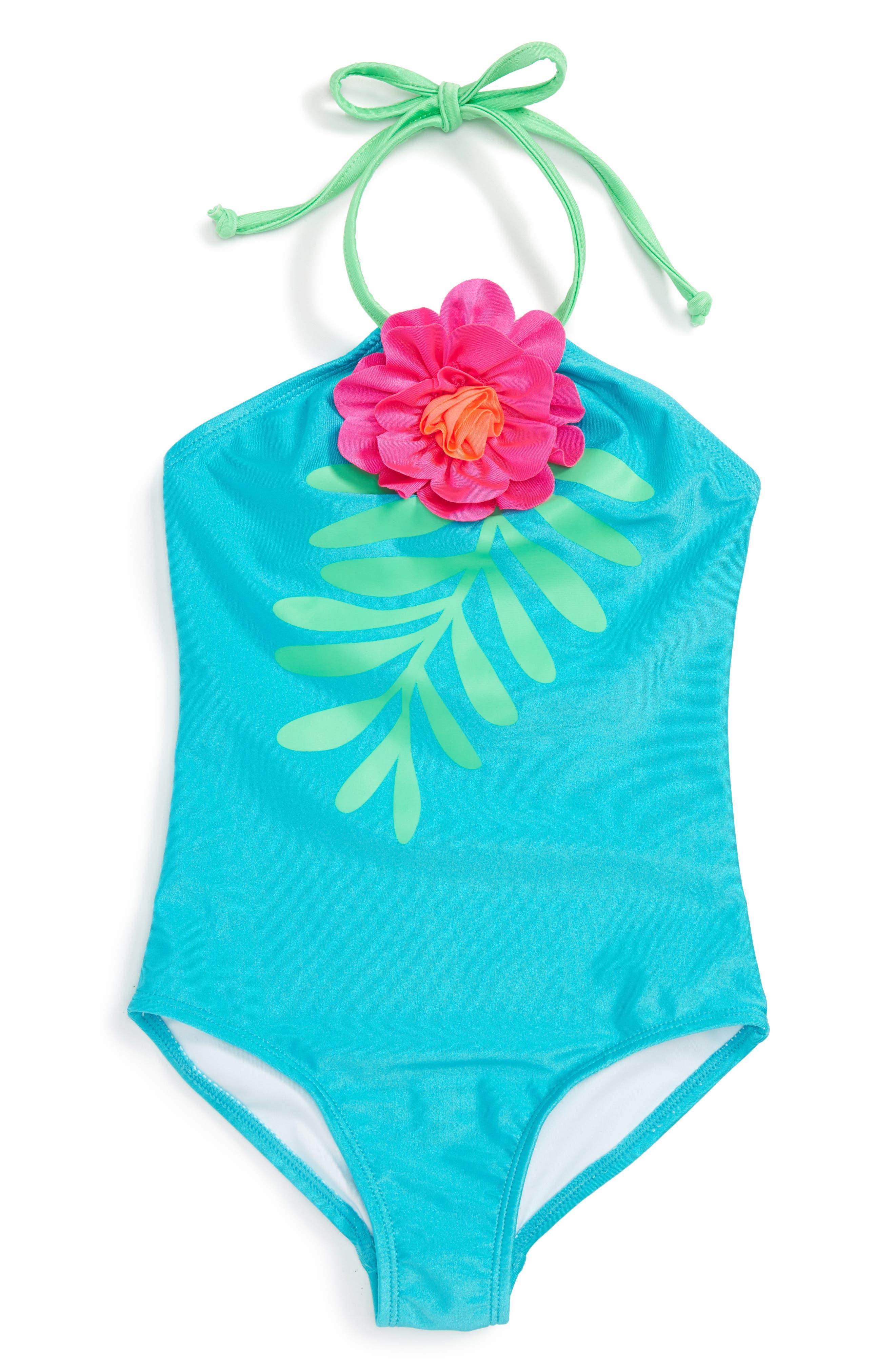 Love U Lots Flower One-Piece Swimsuit (Toddler Girls & Little Girls)