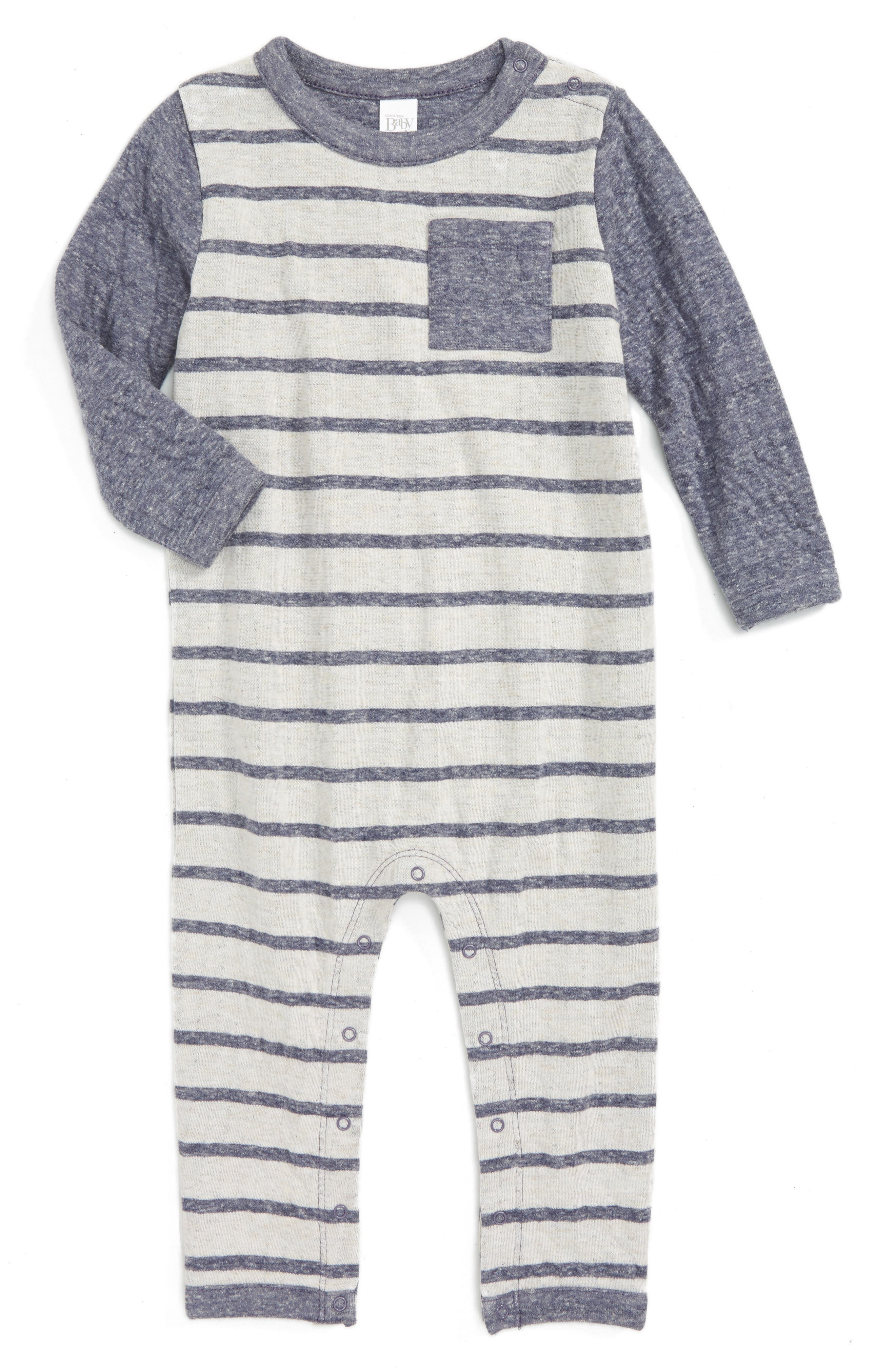 Nordstrom Baby Double Knit Romper (Baby Boys)