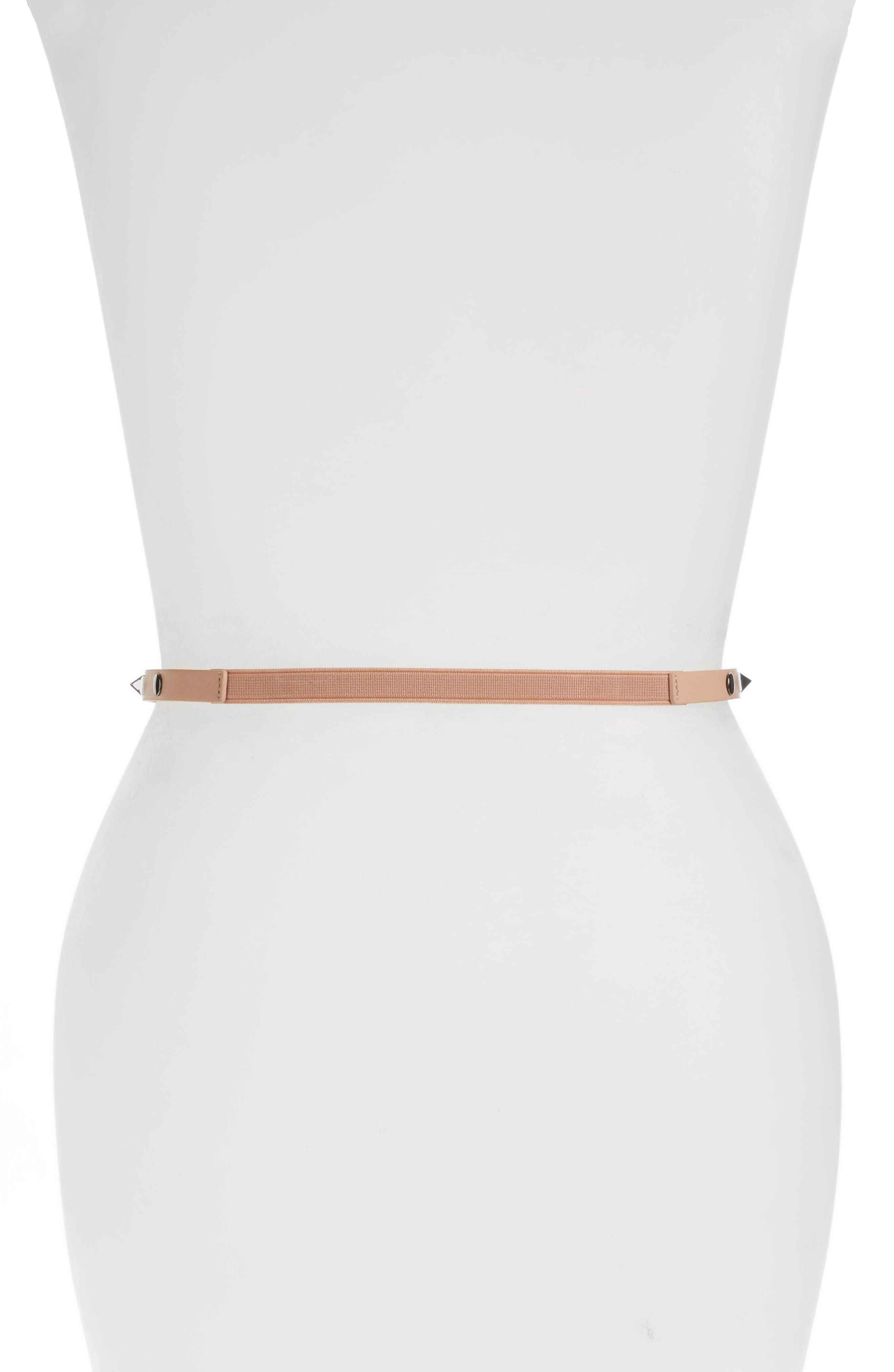 Alternate Image 2  - Halogen® Studded Faux Leather Belt