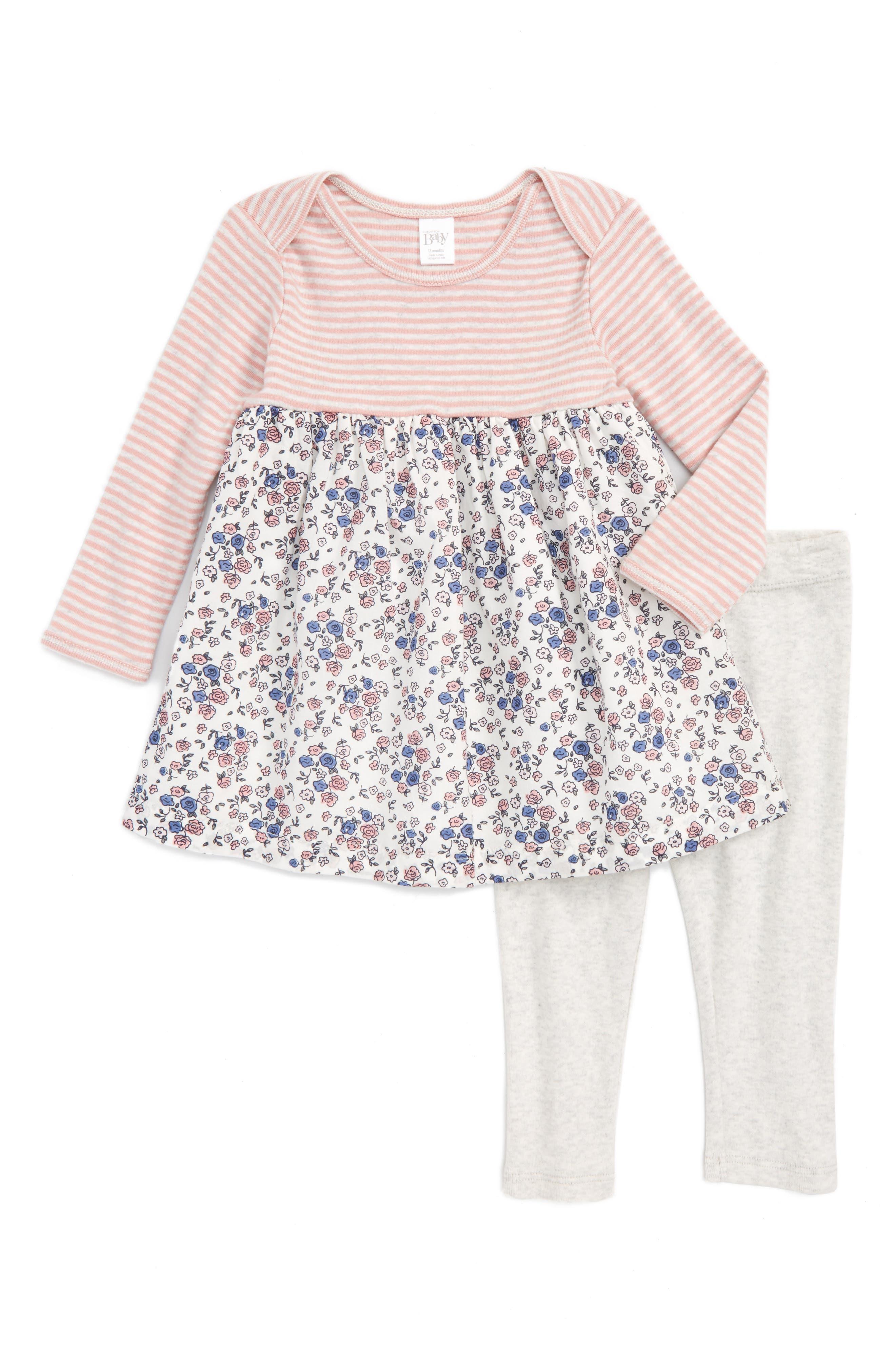 Nordstrom Baby Dress & Leggings Set (Baby Girls)