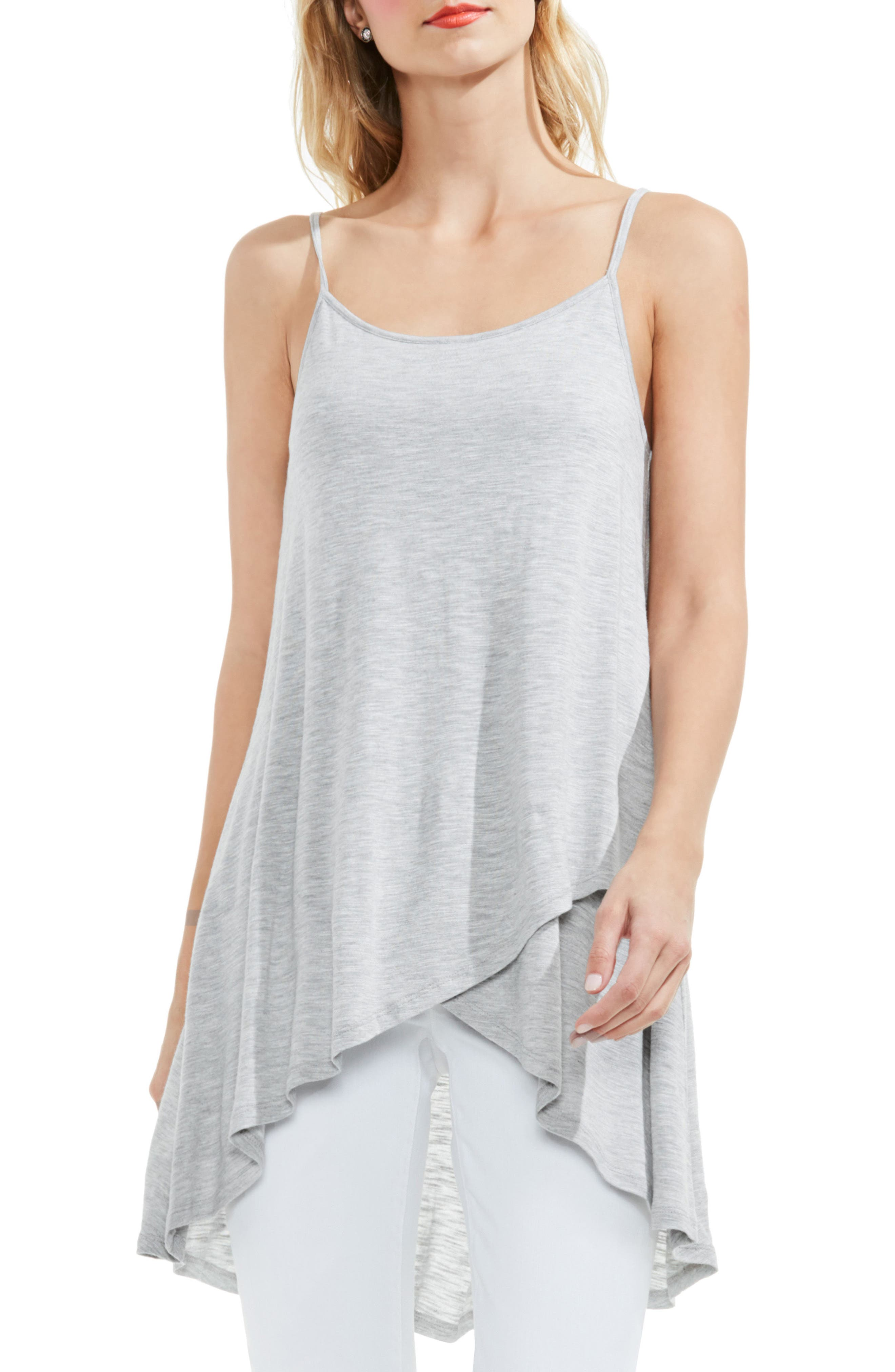 Two by Vince Camuto Faux Wrap High/Low Camisole