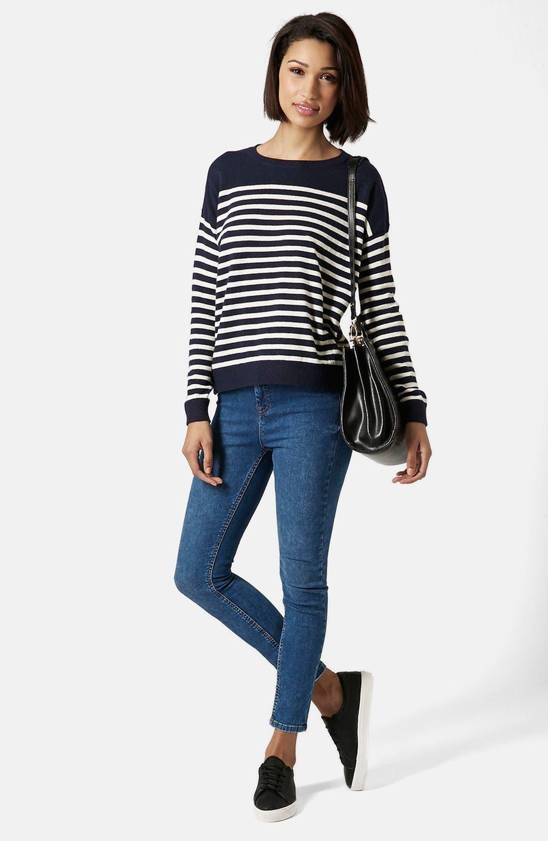 Alternate Image 5  - Topshop Breton Stripe Pullover Sweater