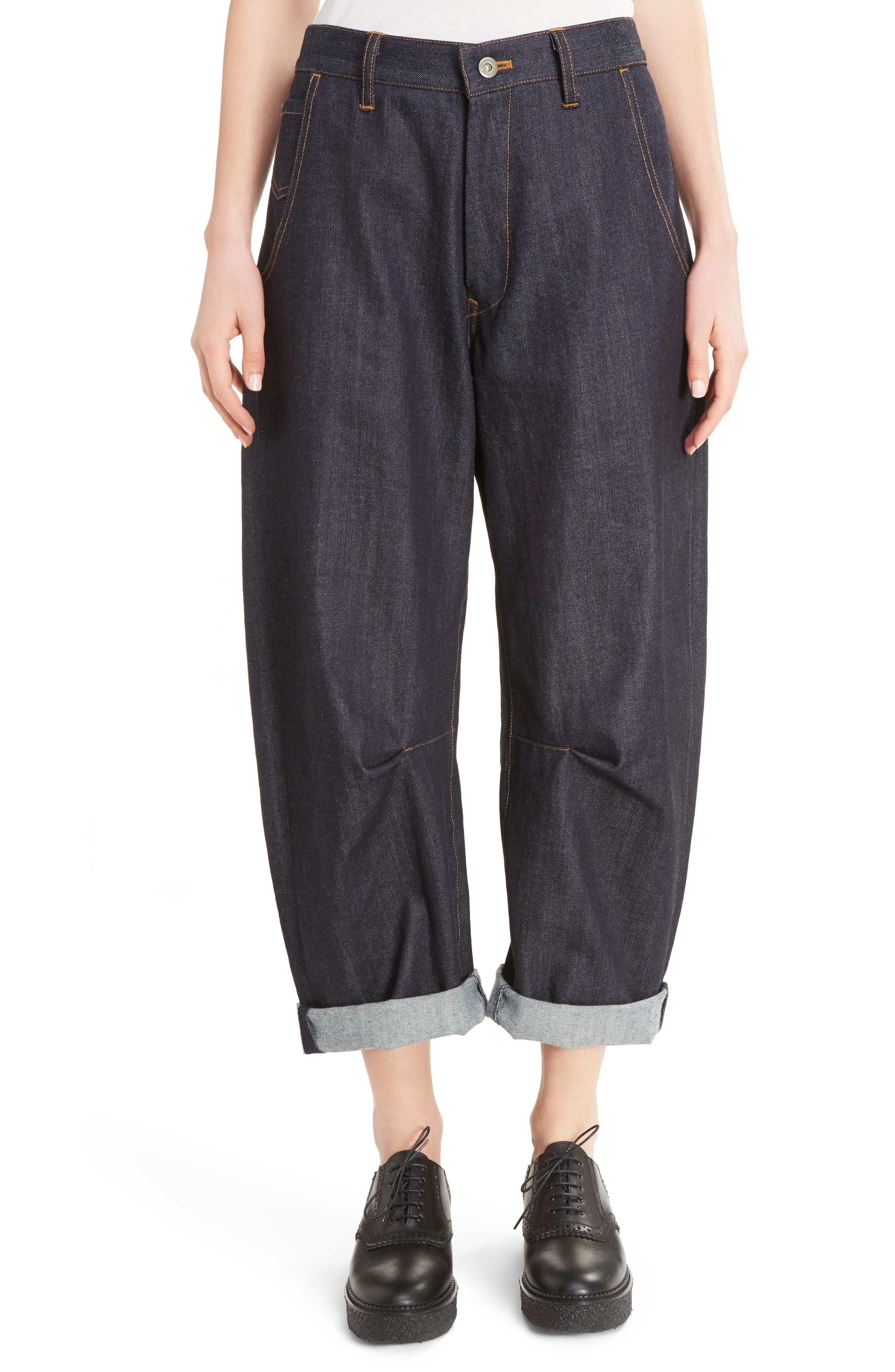 Y's by Yohji Yamamoto U-Wide Gusset Crop Jeans