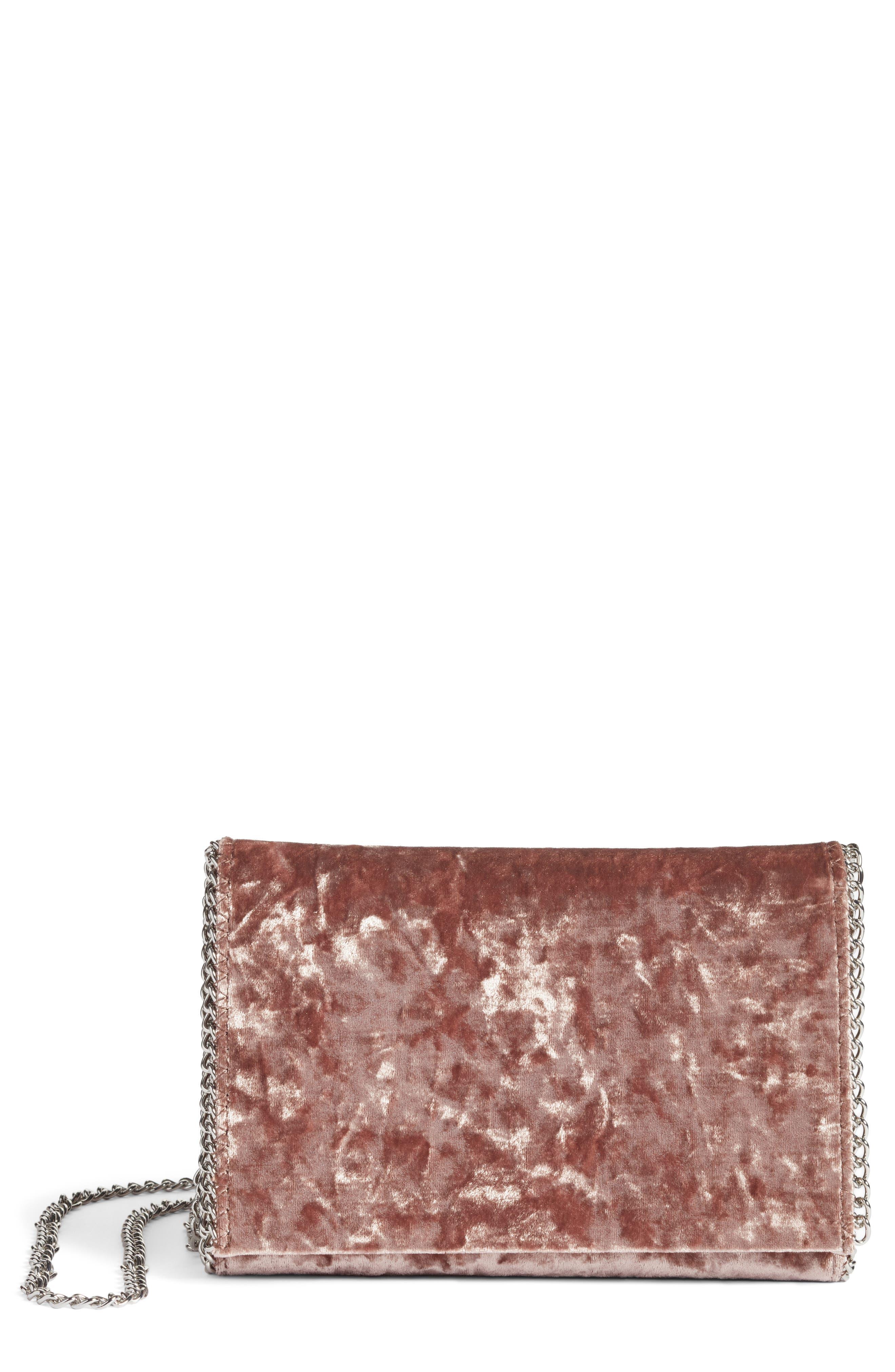 Main Image - Chelsea28 Velvet & Chain Clutch