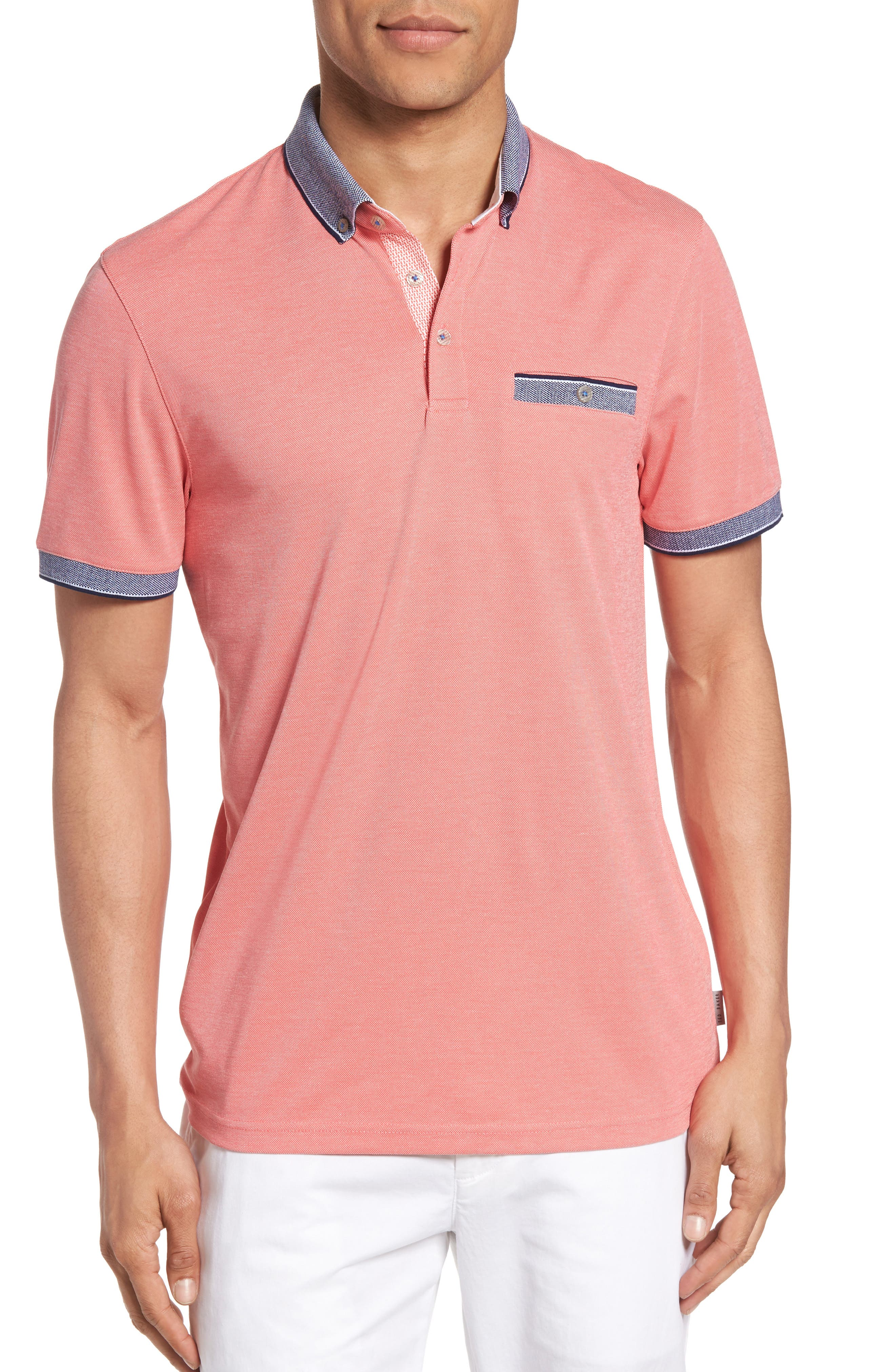 Ted Baker London Shapiro Extra Trim Fit Oxford Polo