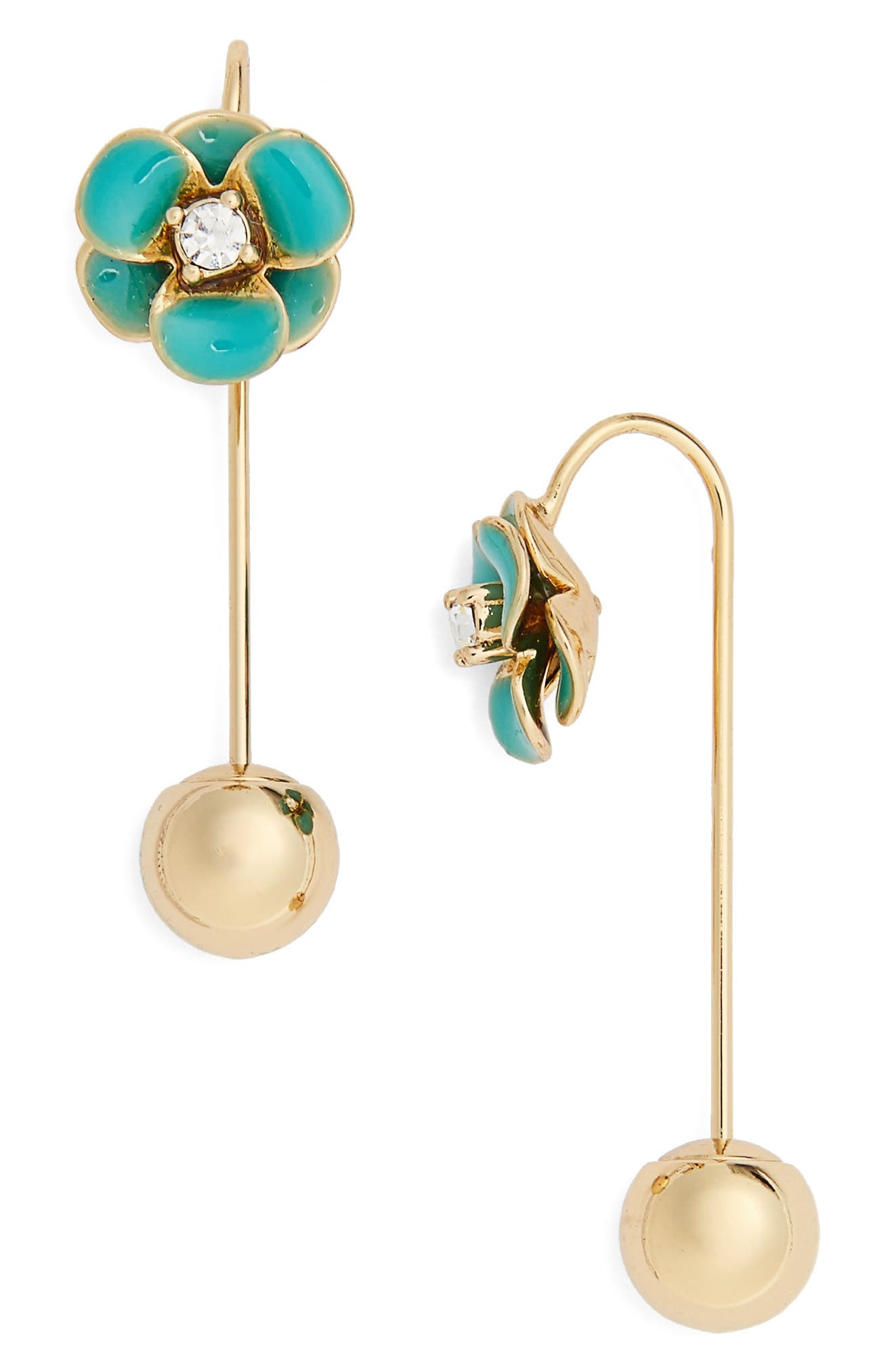 kate spade flower hanger drop earrings