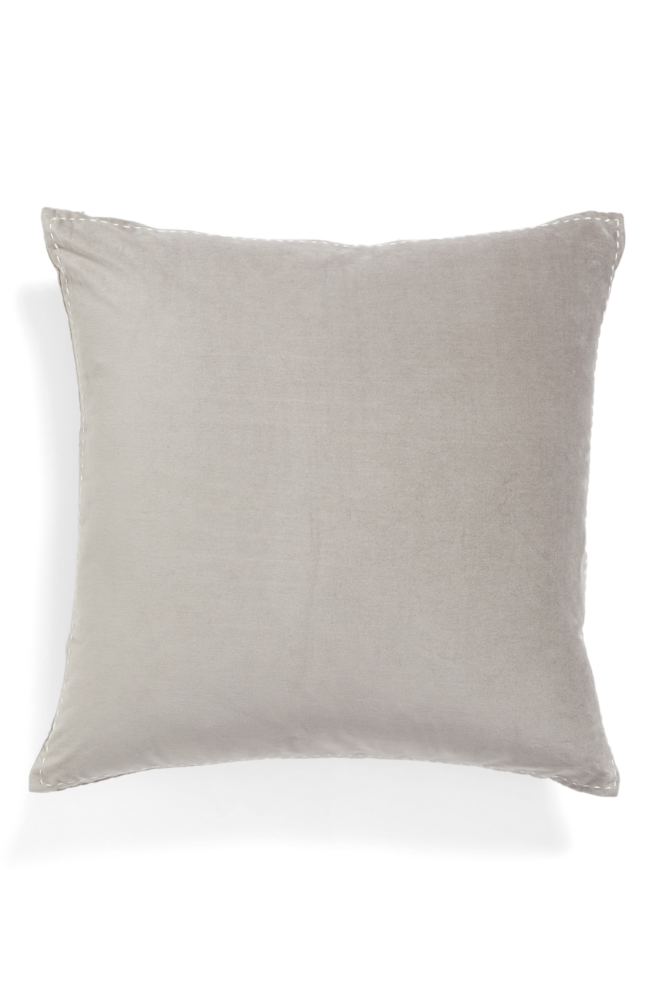 Nordstrom at Home Ticking Border Accent Pillow