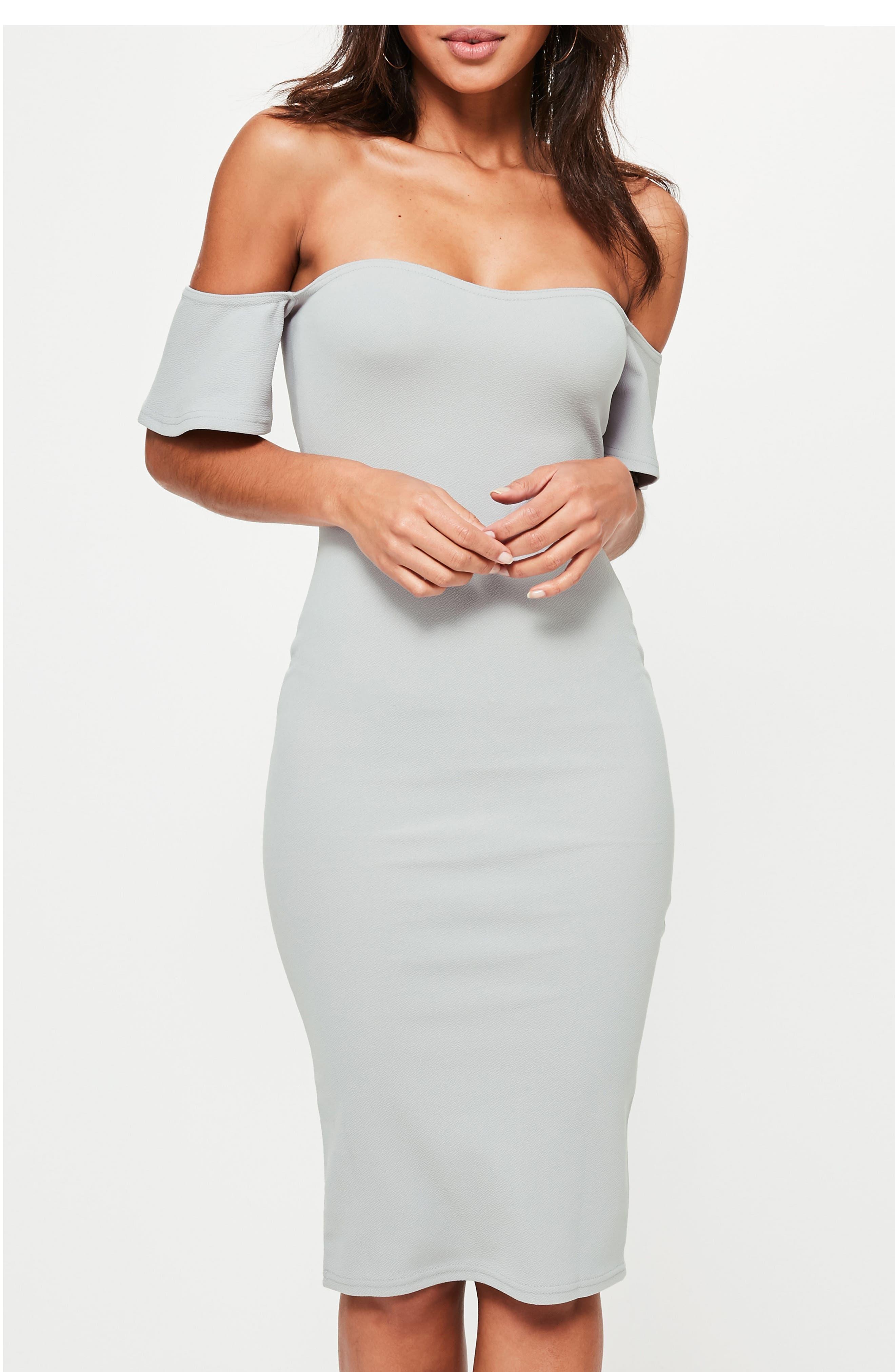 Alternate Image 3  - Missguided Bardot Stretch Crepe Off the Shoulder Dress