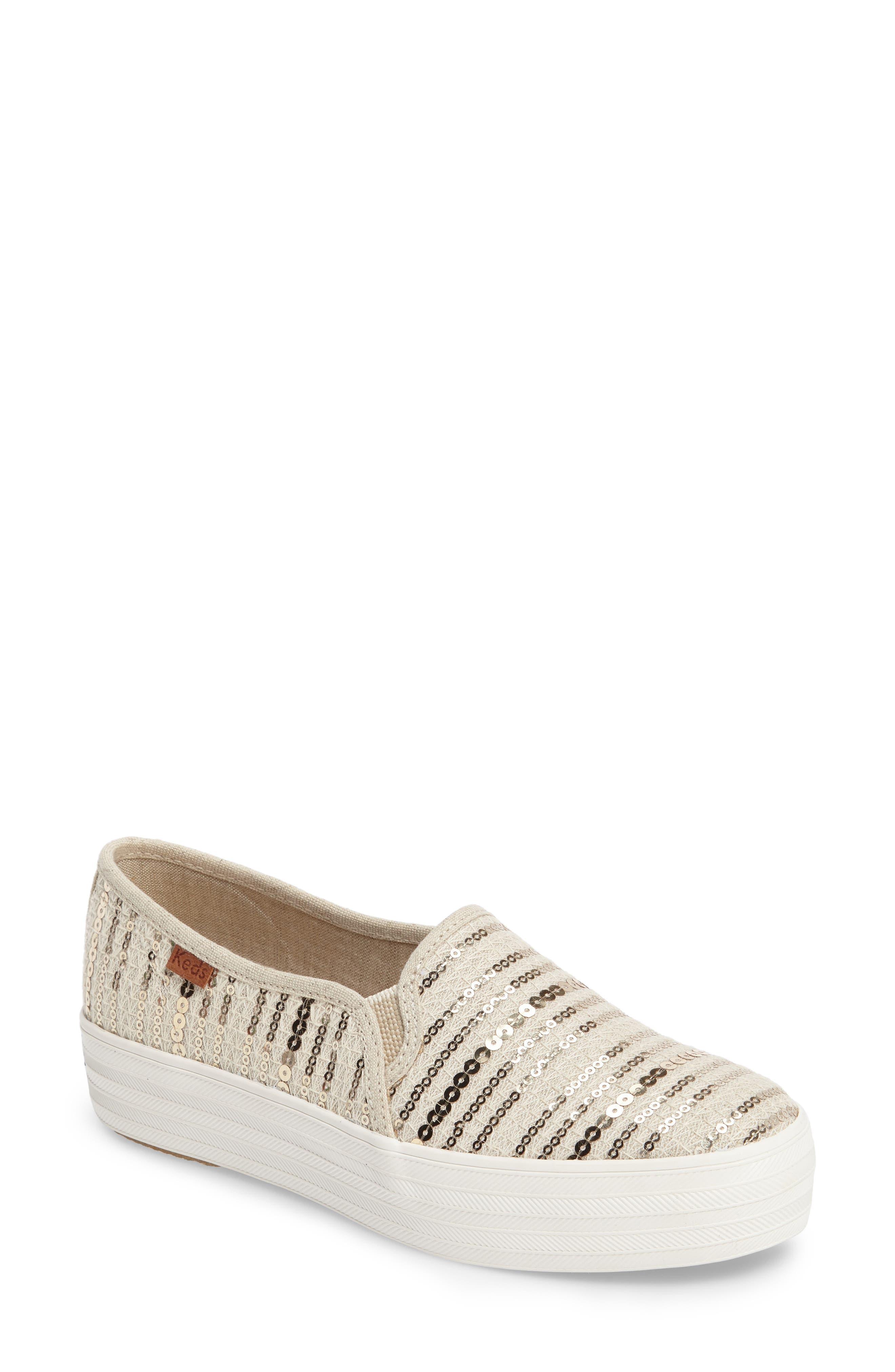 Keds® 'Triple Decker Sequin' Slip-On Platform Sneaker (Women)