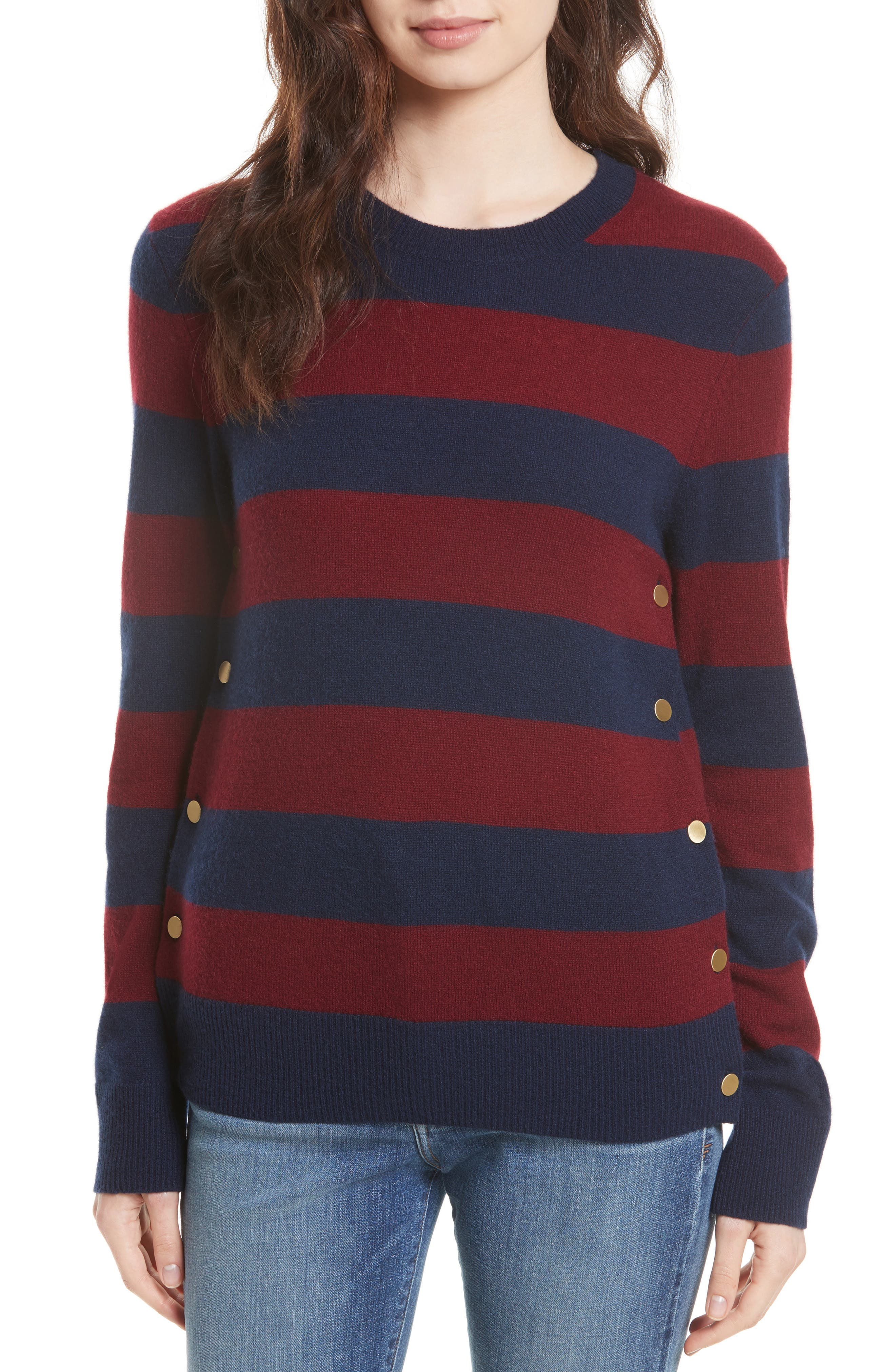 Equipment Jenny Stripe Cashmere Pullover