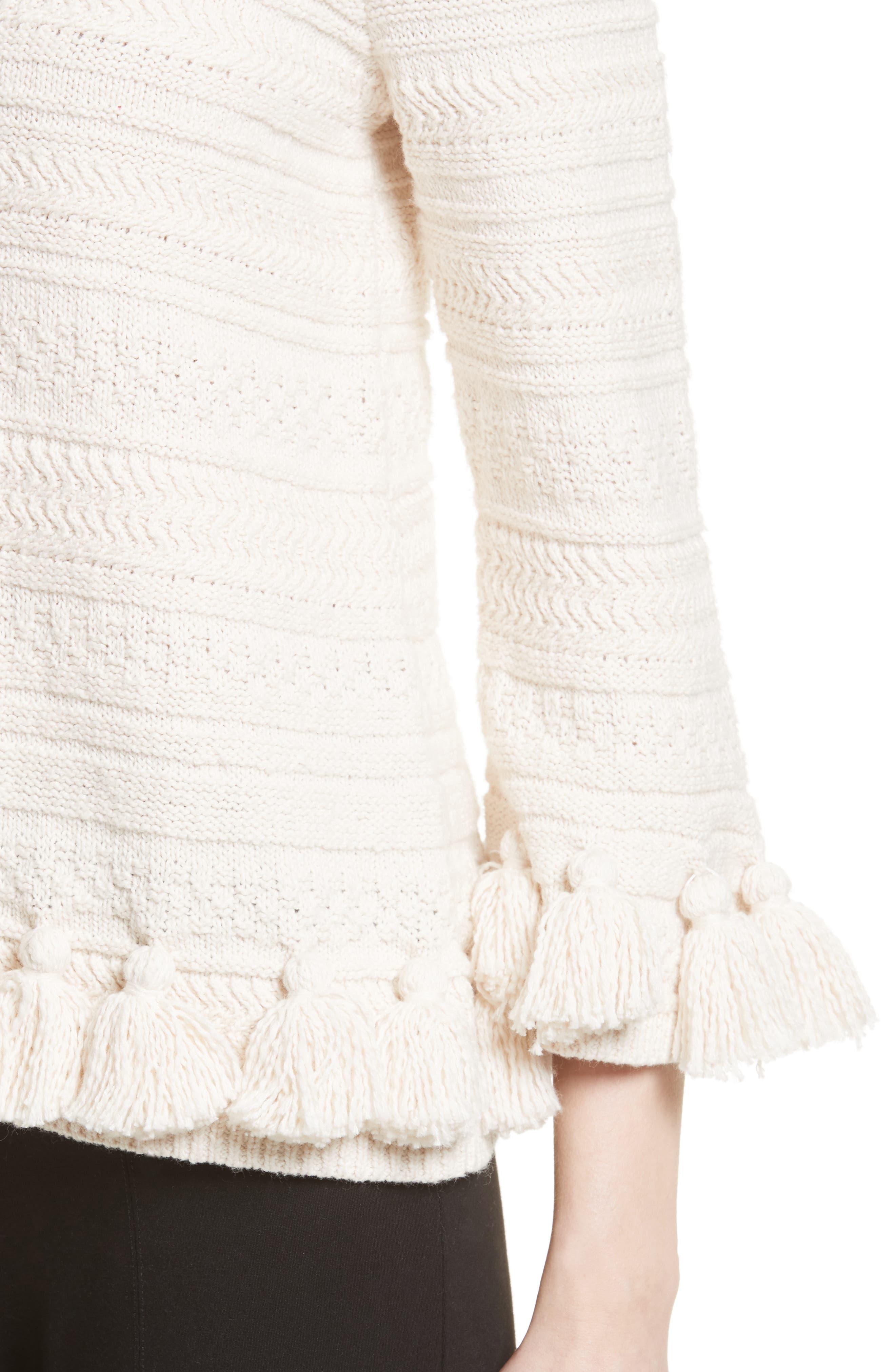 Alternate Image 4  - kate spade new york textured tassel pullover
