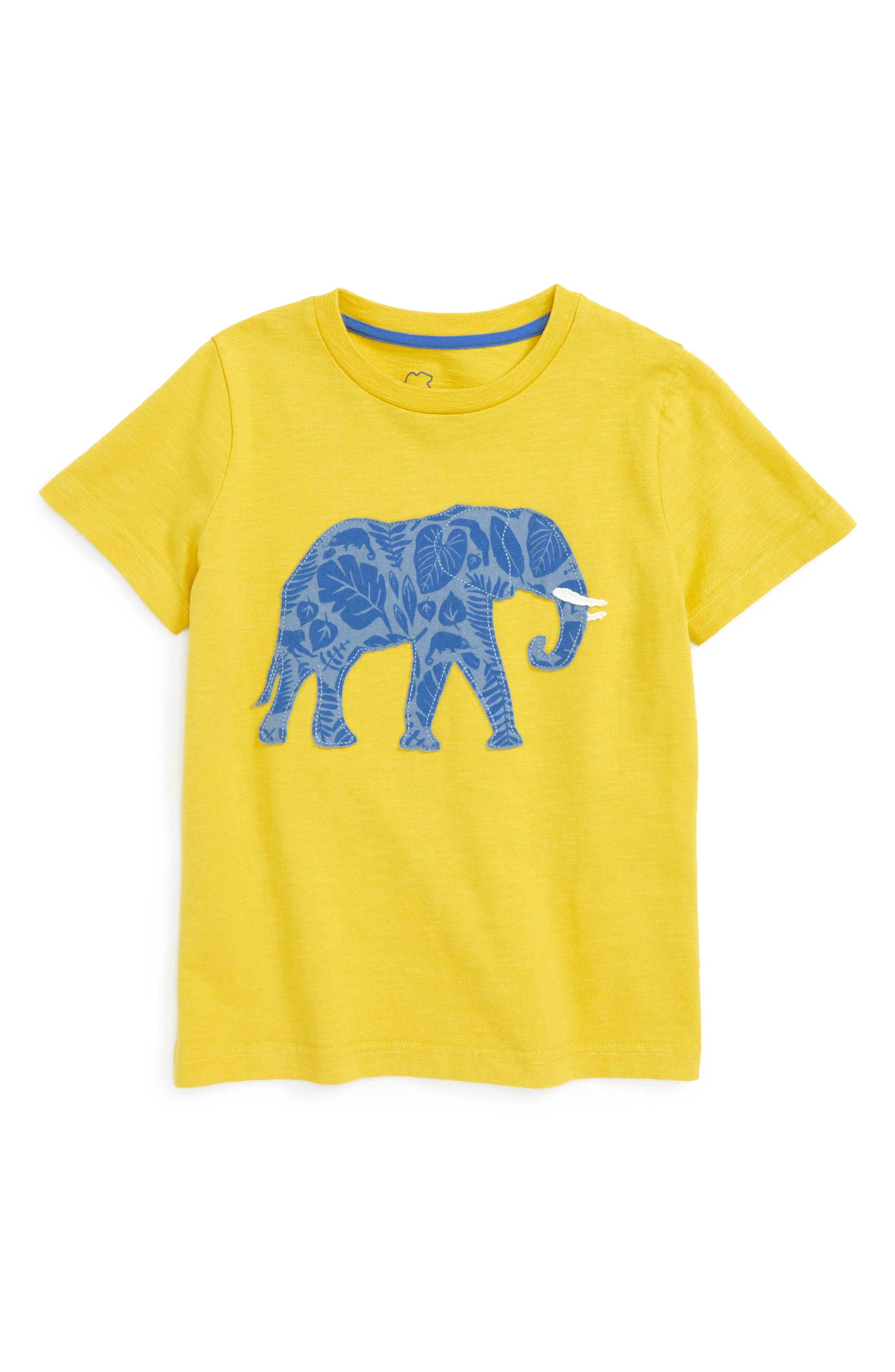 Mini Boden Patchwork Animal T-Shirt (Toddler Boys, Little Boys & Big Boys)