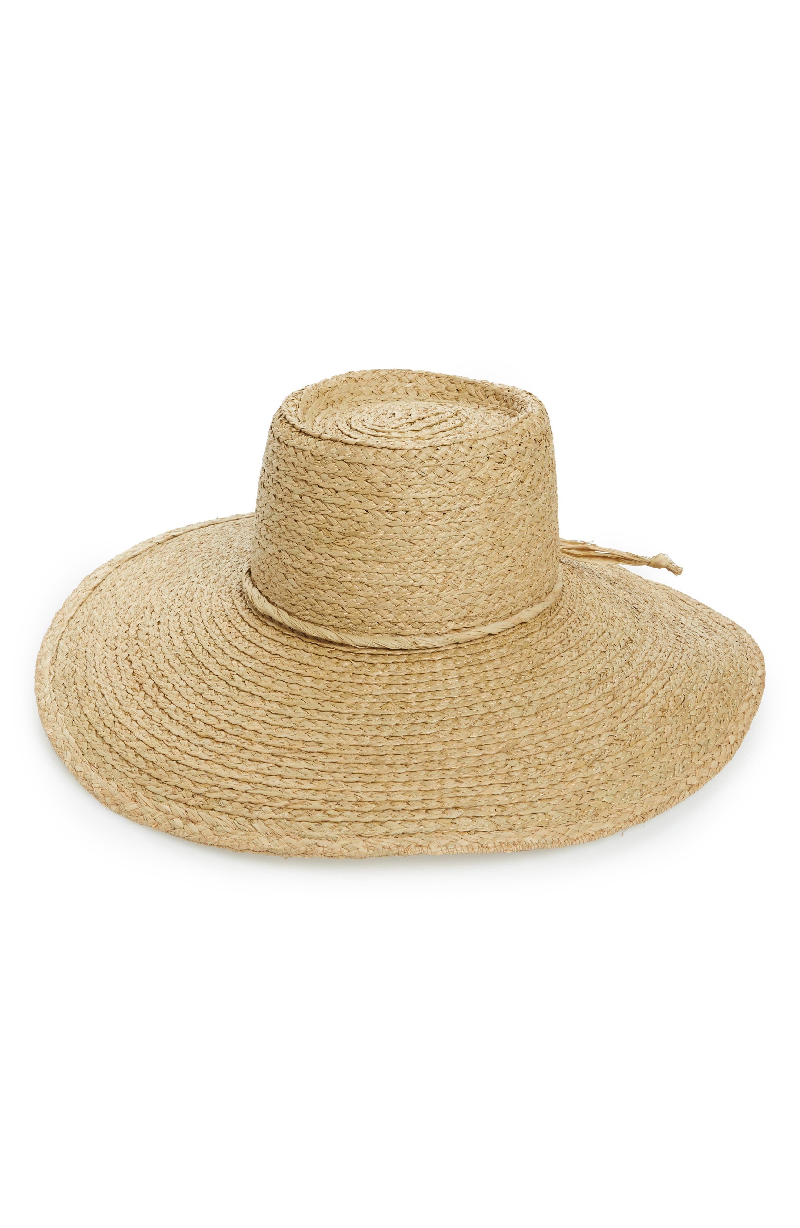 Alternate Image 1 Selected - Brixton Paite Raffia Floppy Hat