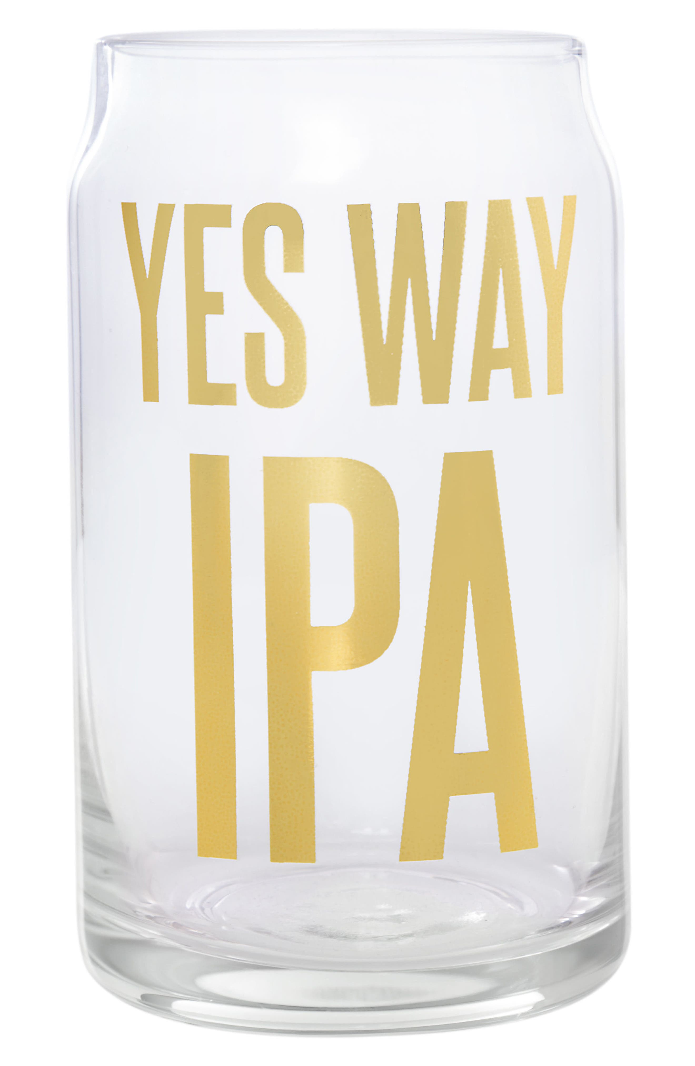 Slant Collections Yes Way IPA Beer Can Glass