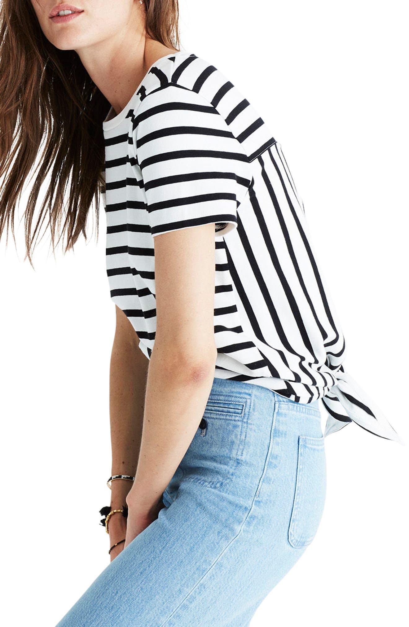 Alternate Image 3  - Madewell Stripe Tie Back Tee