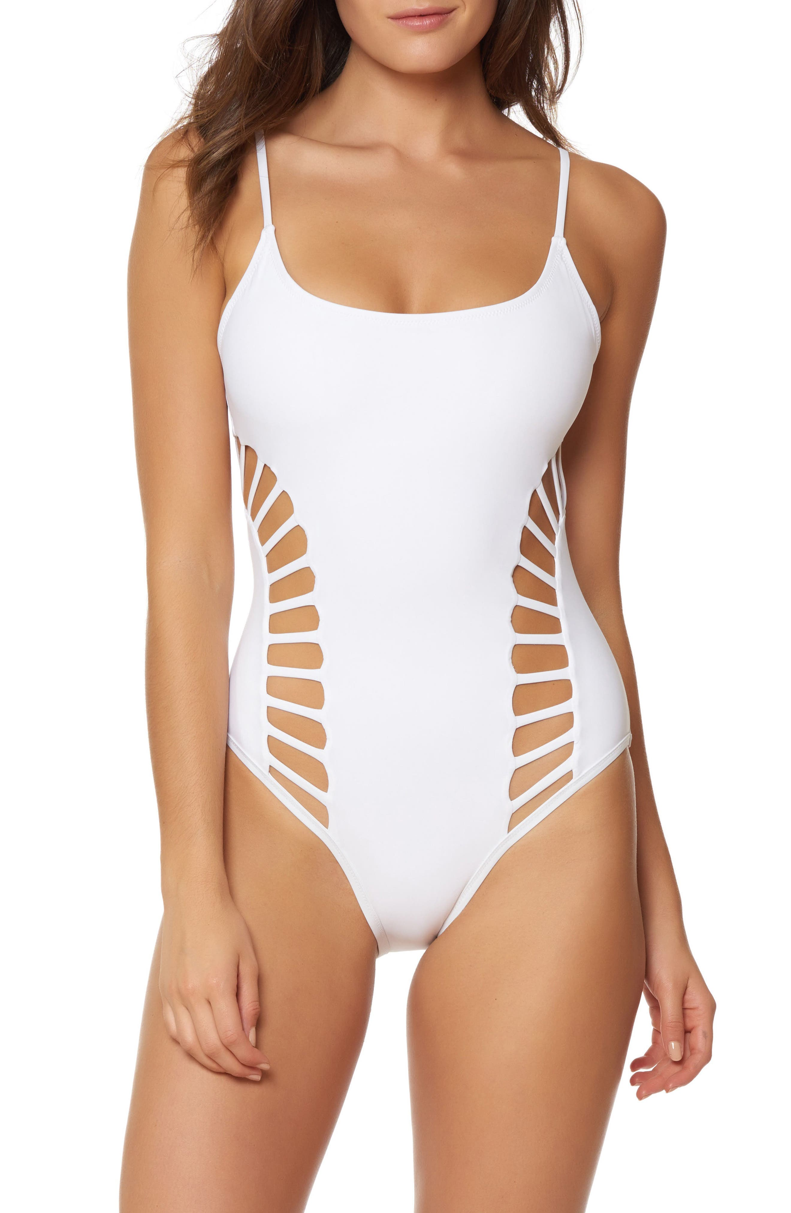 Red Carter South Beach Cutout One-Piece Swimsuit