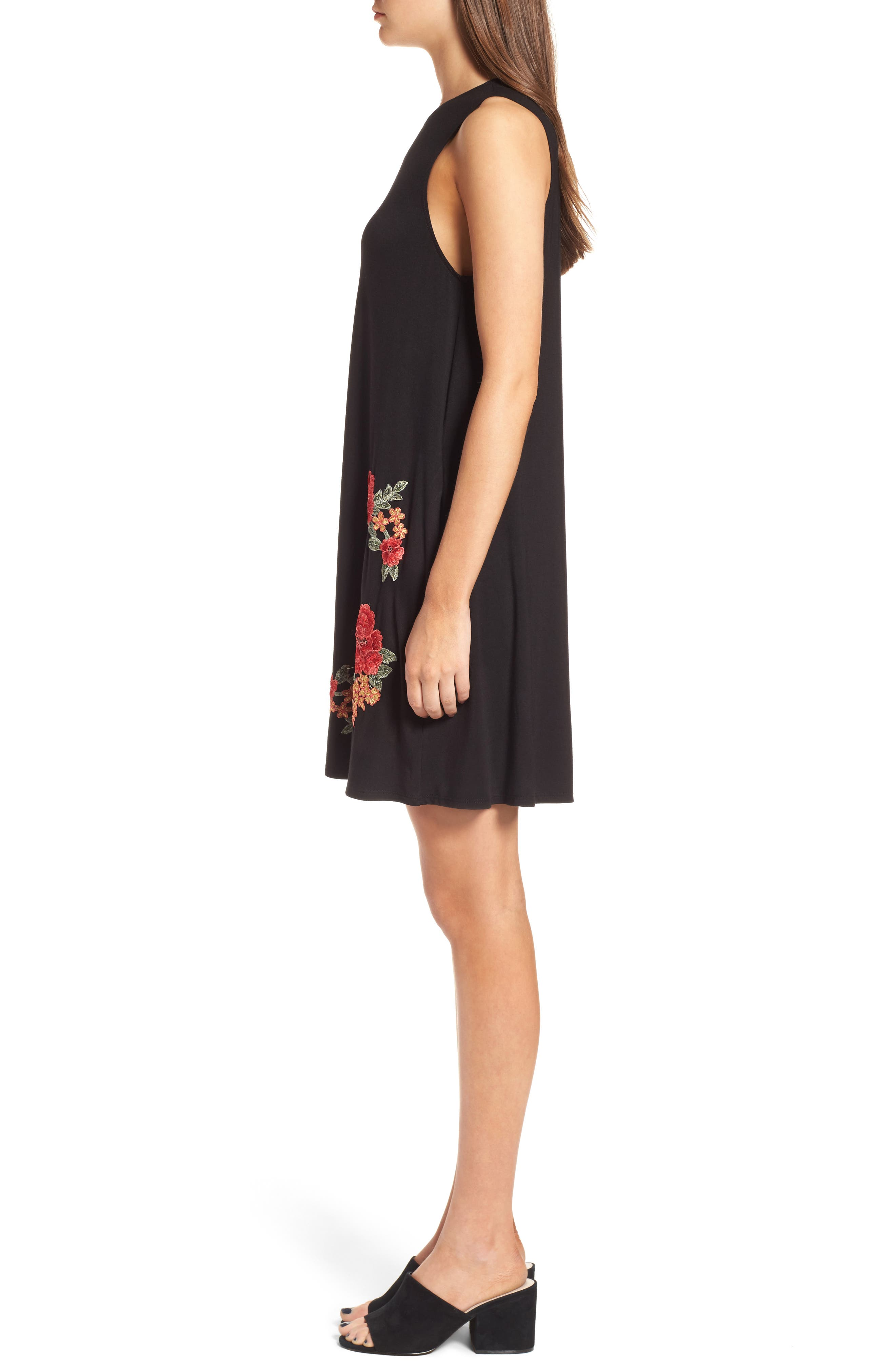 Alternate Image 3  - Socialite Floral Appliqué Tank Dress