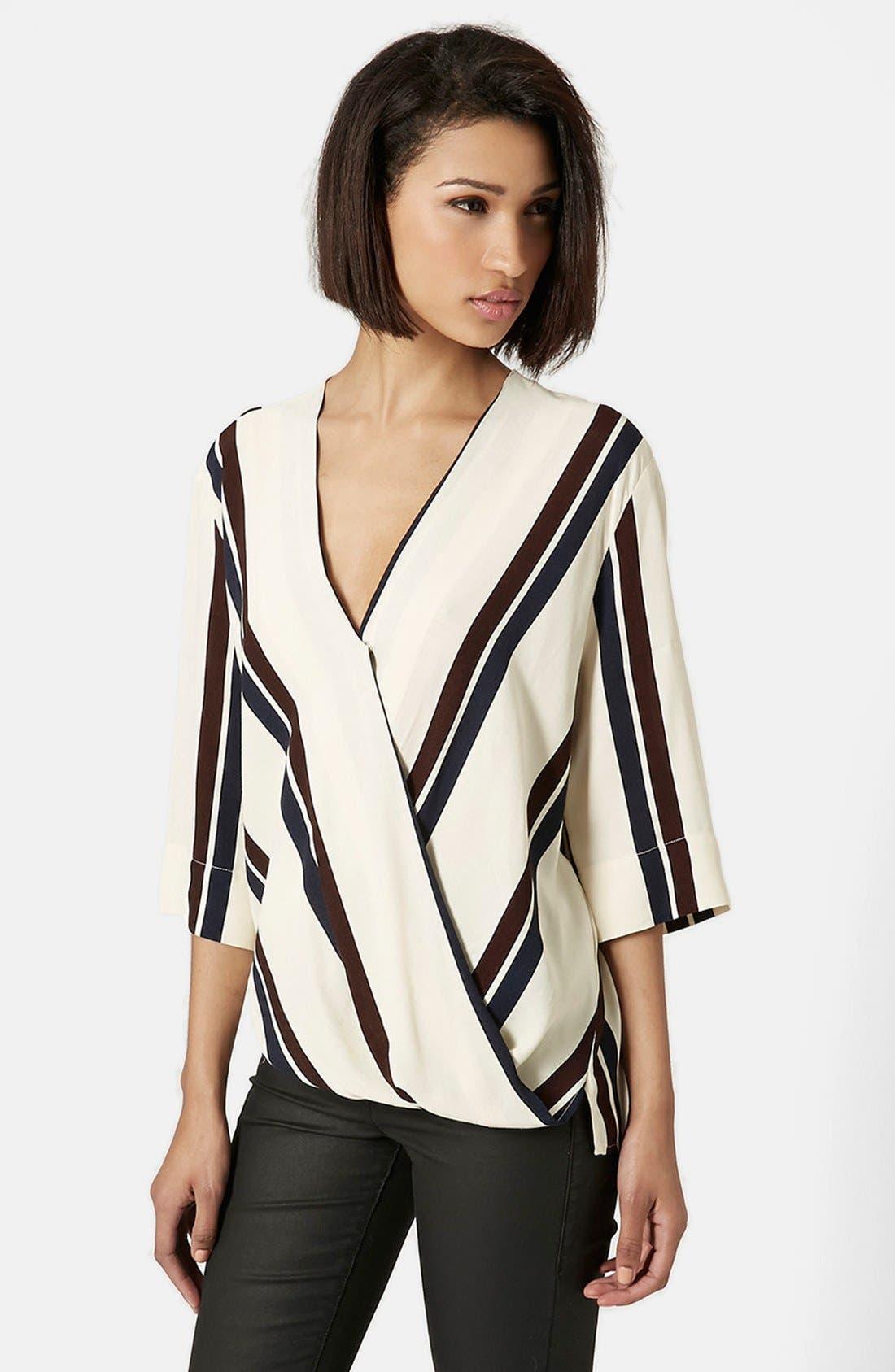 Alternate Image 1 Selected - Topshop Drape Front Blouse