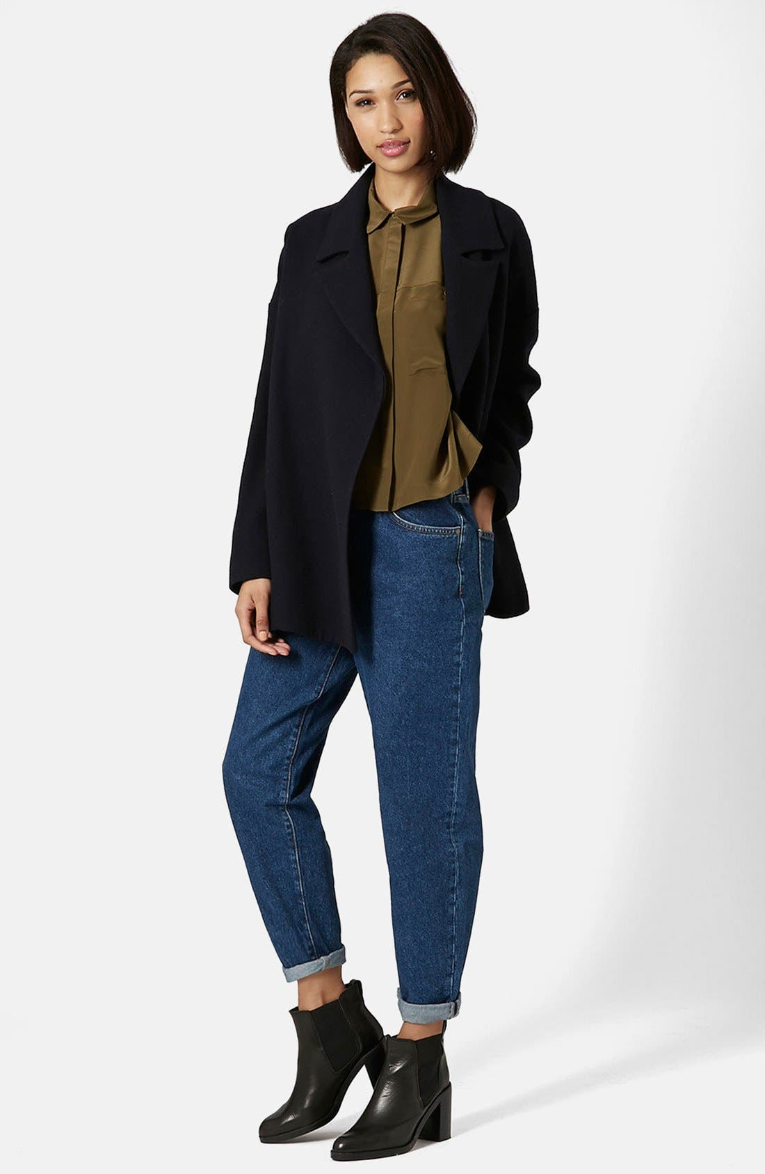 Alternate Image 5  - Topshop Boutique High Rise Slouchy Jeans (Mid Denim)