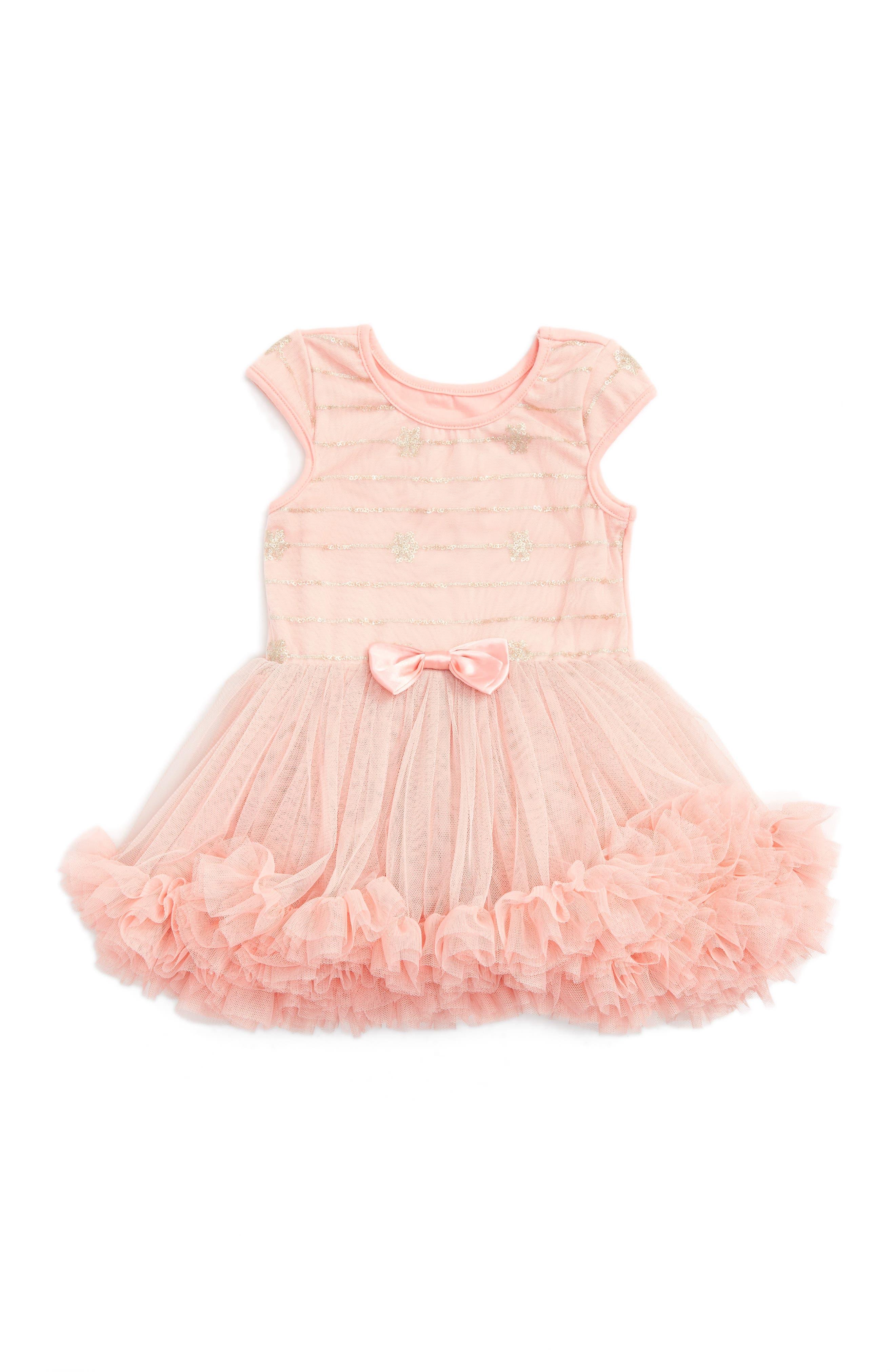 Popatu Sequin Tulle Dress (Baby Girls)