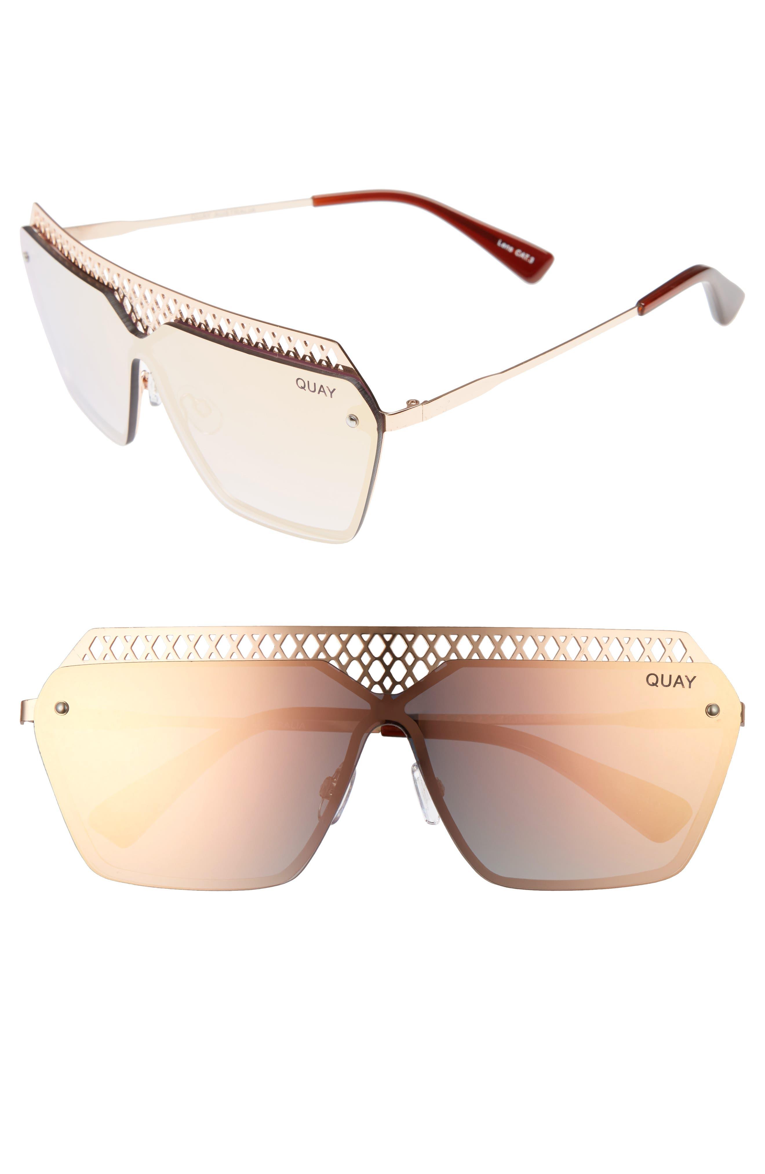 Quay Australia x Jasmine Sanders Hall of Fame 68mm Shield Sunglasses
