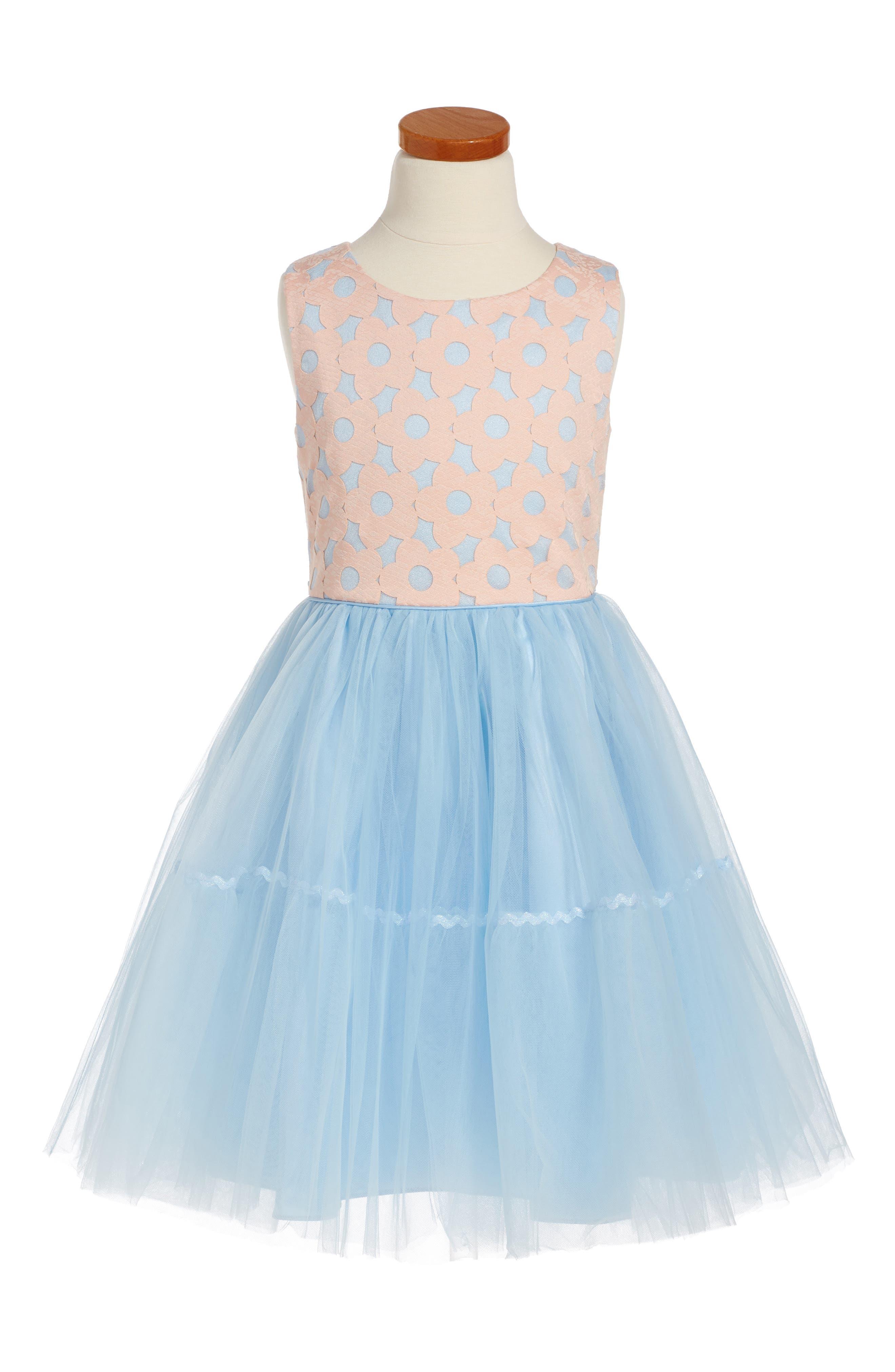 Frais Daisy Cutout Fit & Flare Dress (Toddler Girls, Little Girls & Big Girls)