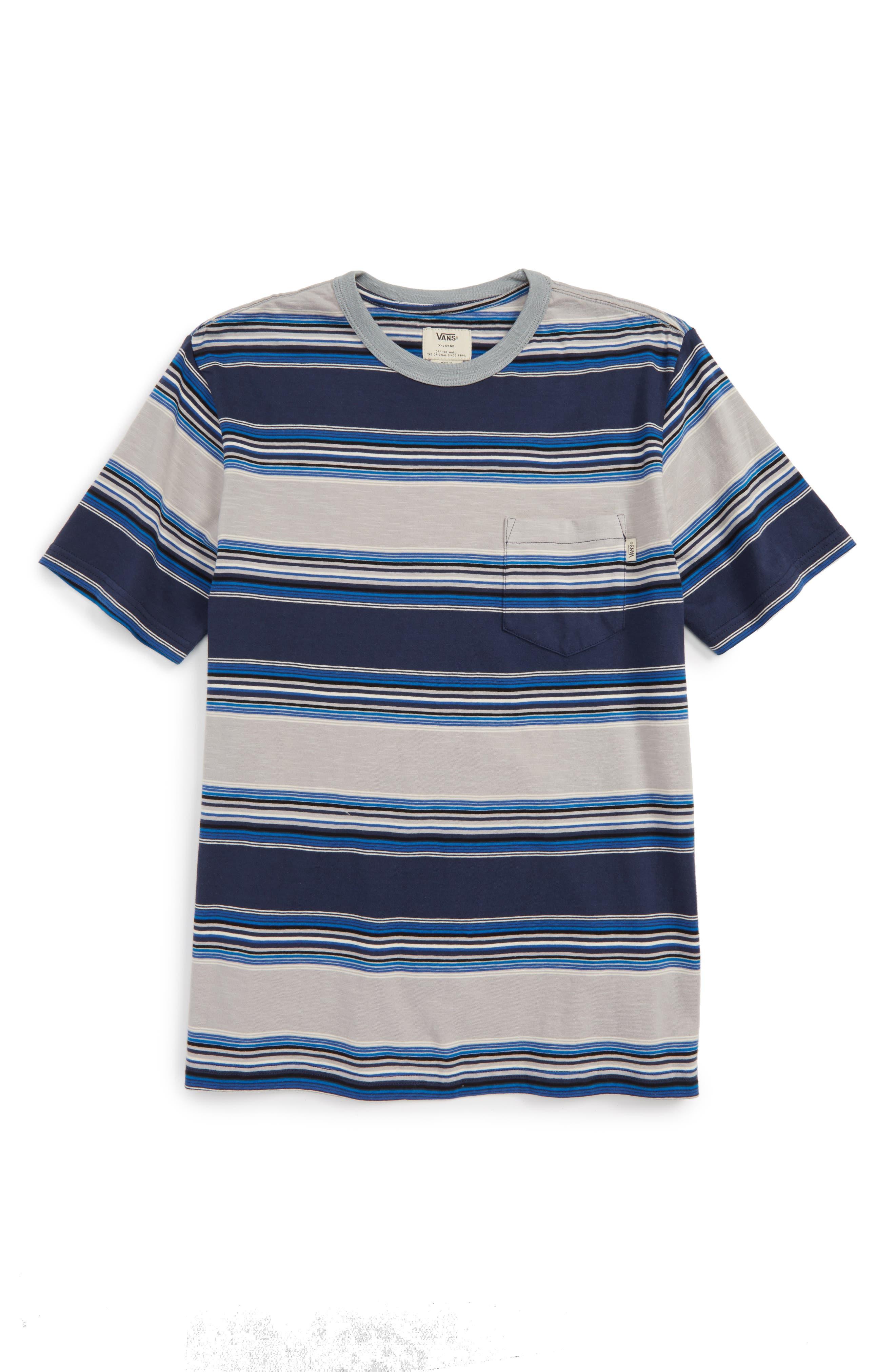 Vans Brunswick Stripe T-Shirt (Big Boys)