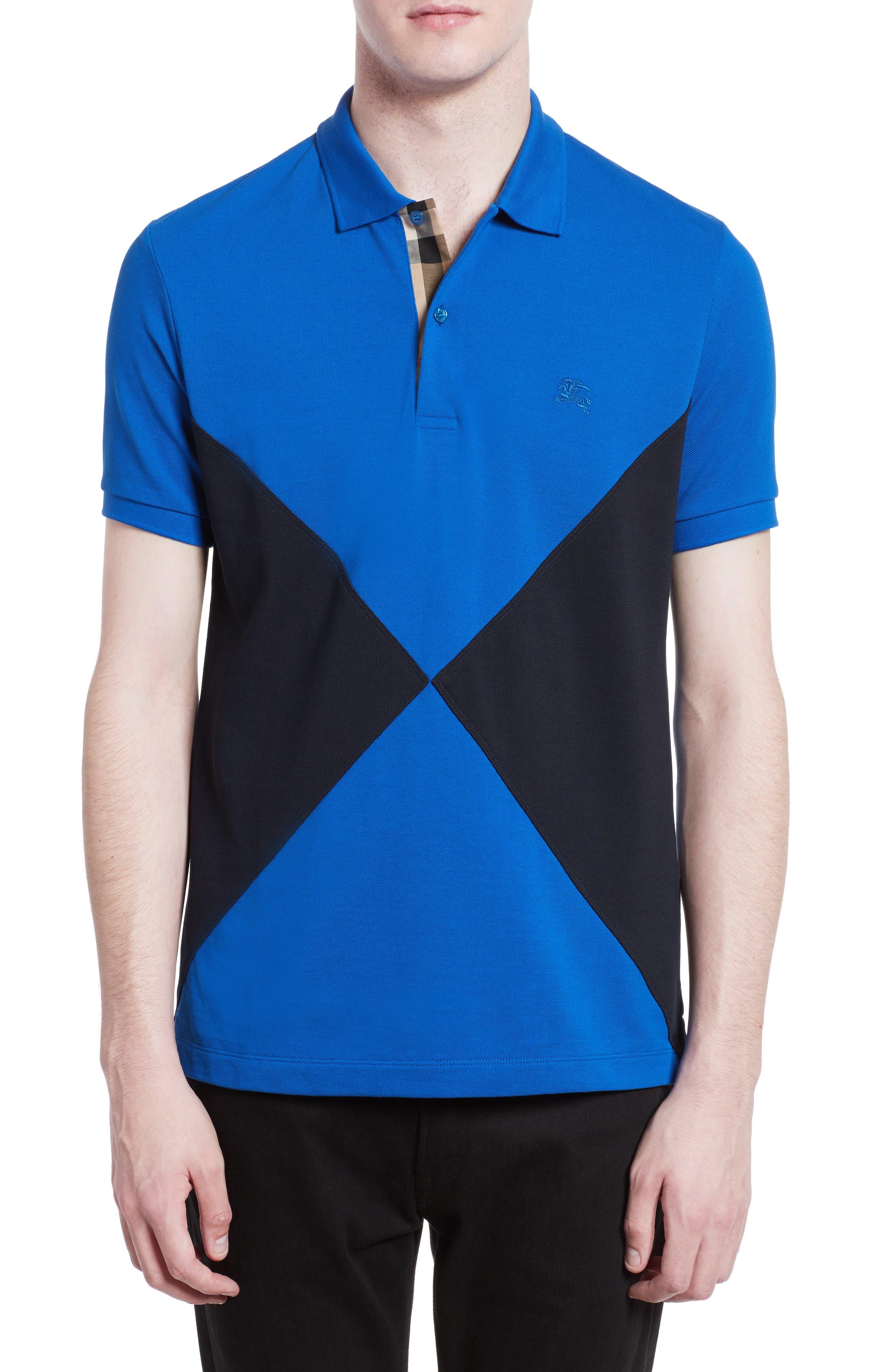 Burberry Louis Abown Geometric Polo