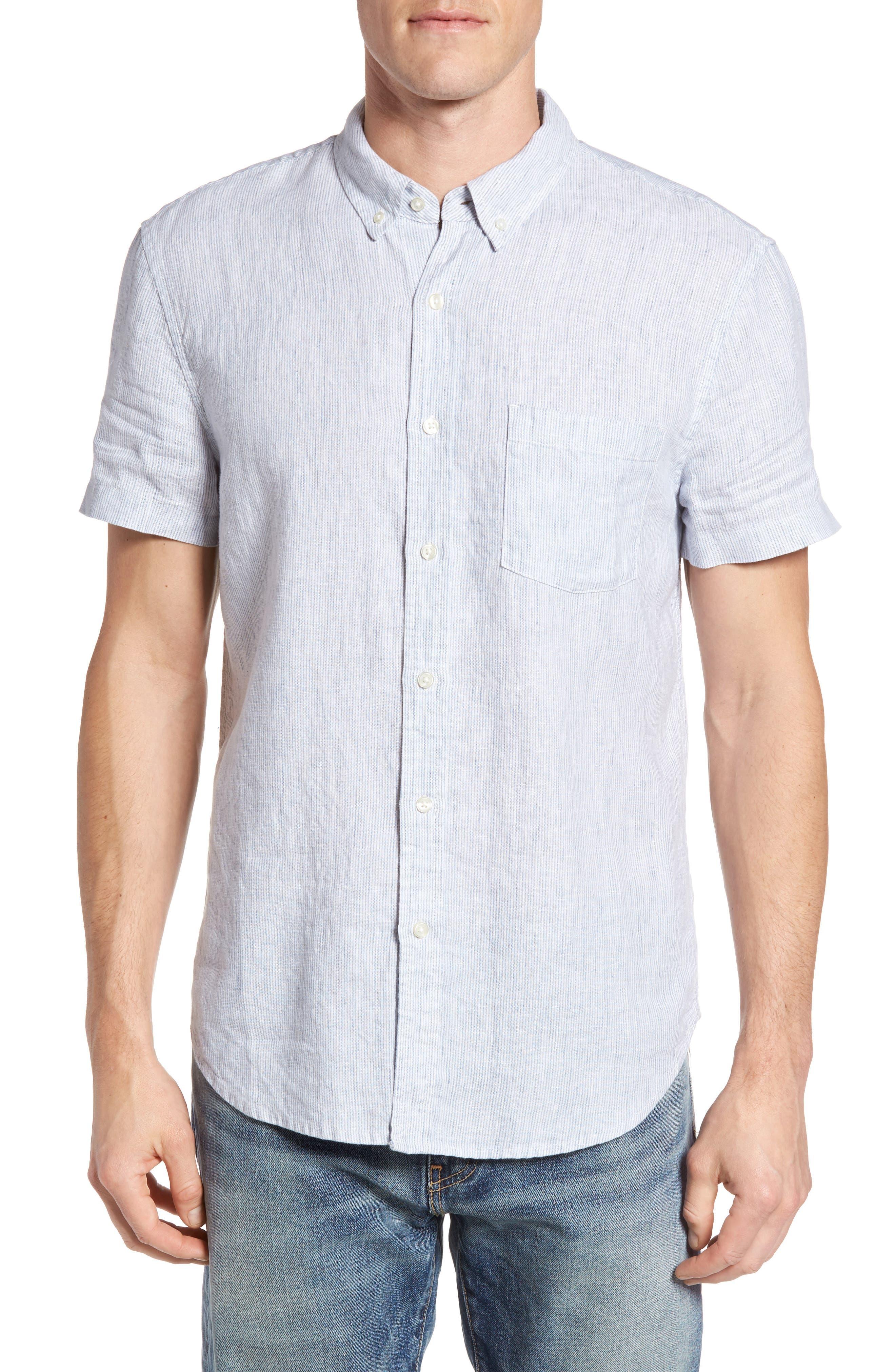 Lucky Brand Pinstripe Woven Shirt