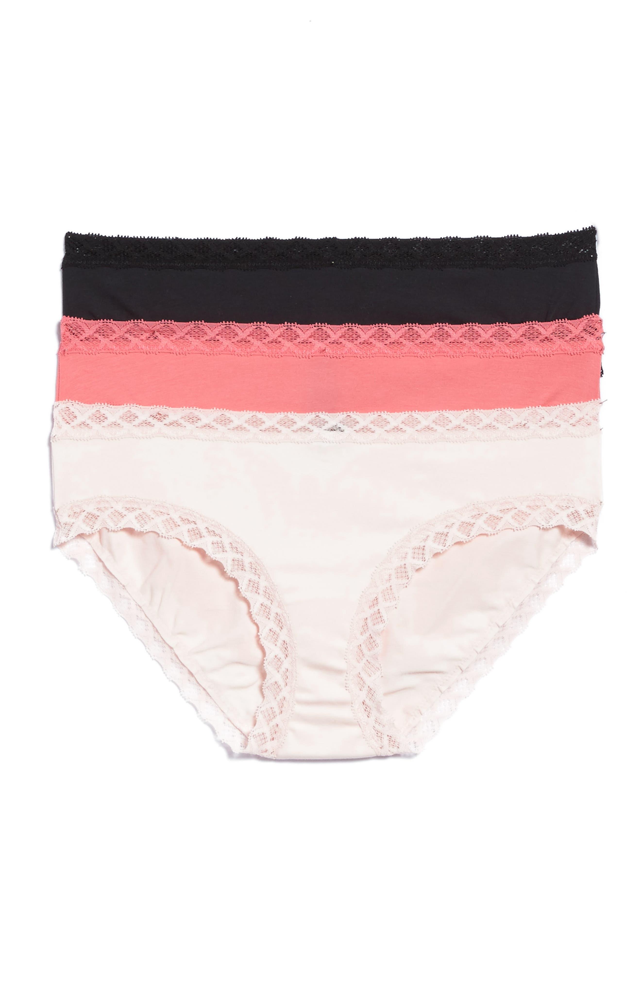 NATORI Bliss 3-Pack Cotton Girl Briefs